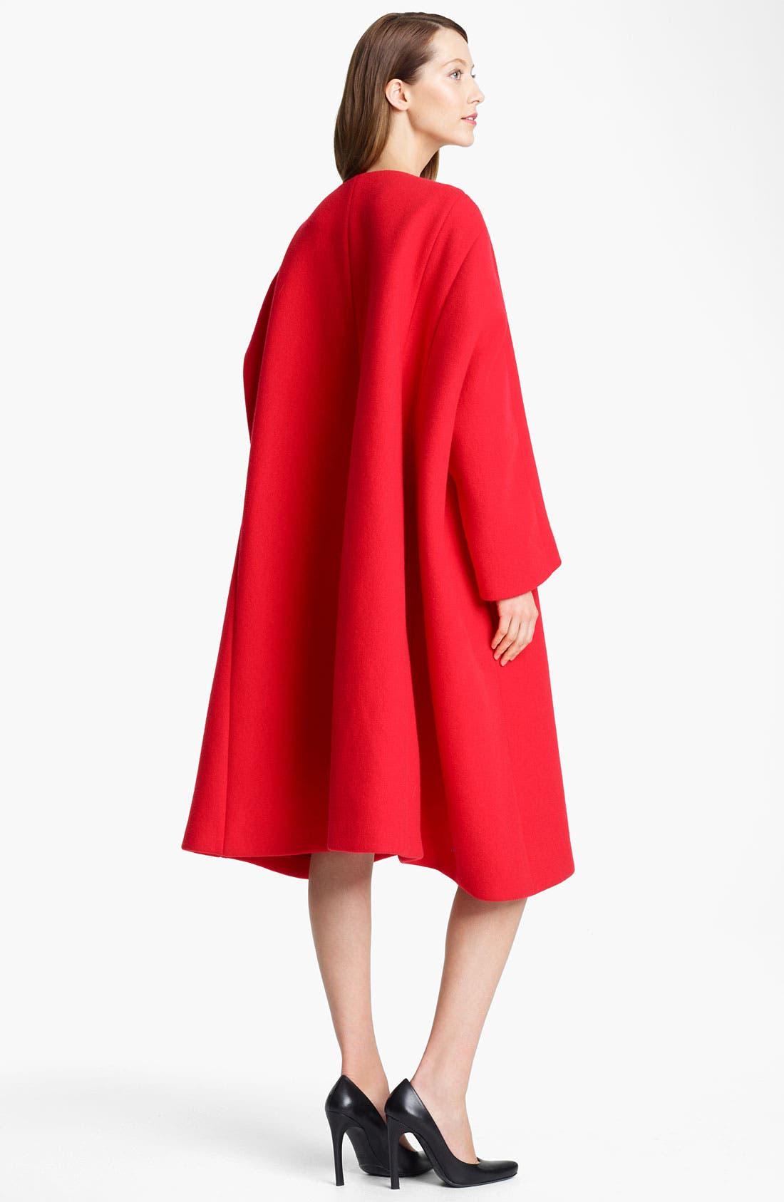 Alternate Image 2  - Jil Sander Oversized Double Face Melton Wool Coat