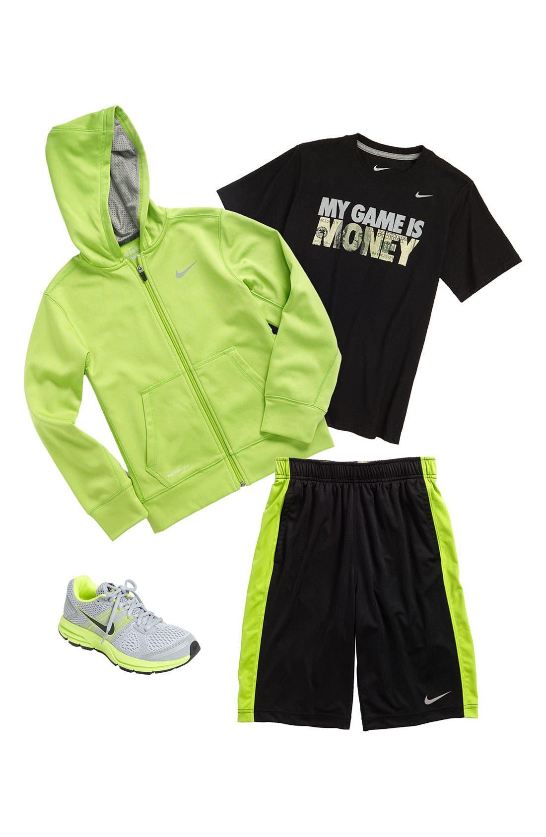 Alternate Image 1 Selected - Nike T-Shirt, Hoodie & Shorts (Big Boys)