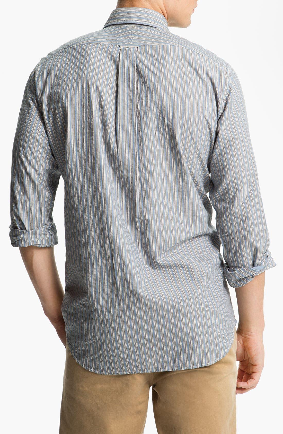 Alternate Image 2  - Façonnable Denim Trim Fit Sport Shirt