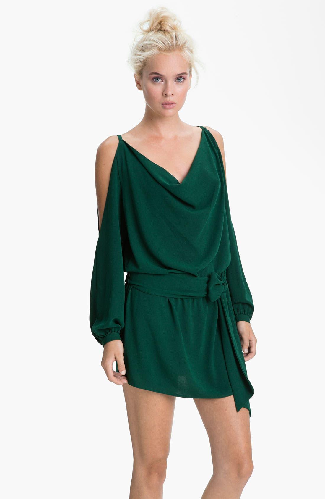 Alternate Image 1 Selected - Haute Hippie Split Shoulder Dress