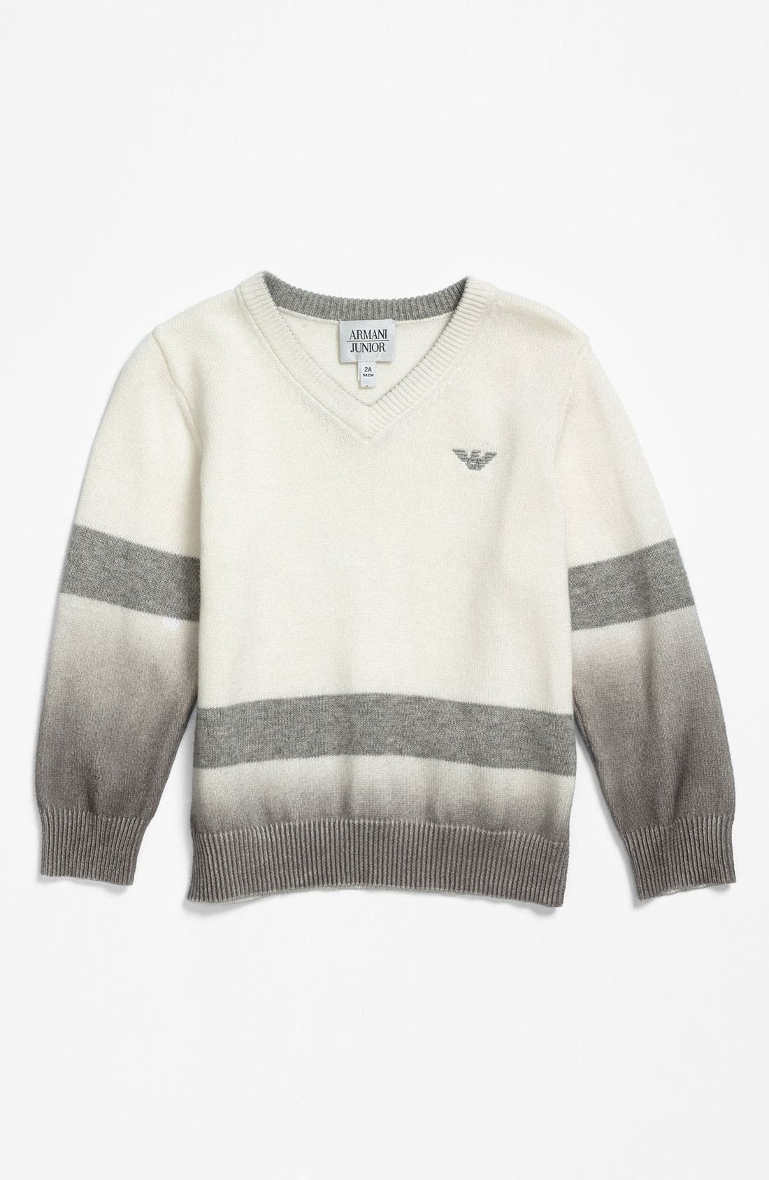 Alternate Image 1 Selected - Armani Junior V-Neck Sweater (Little Boys)
