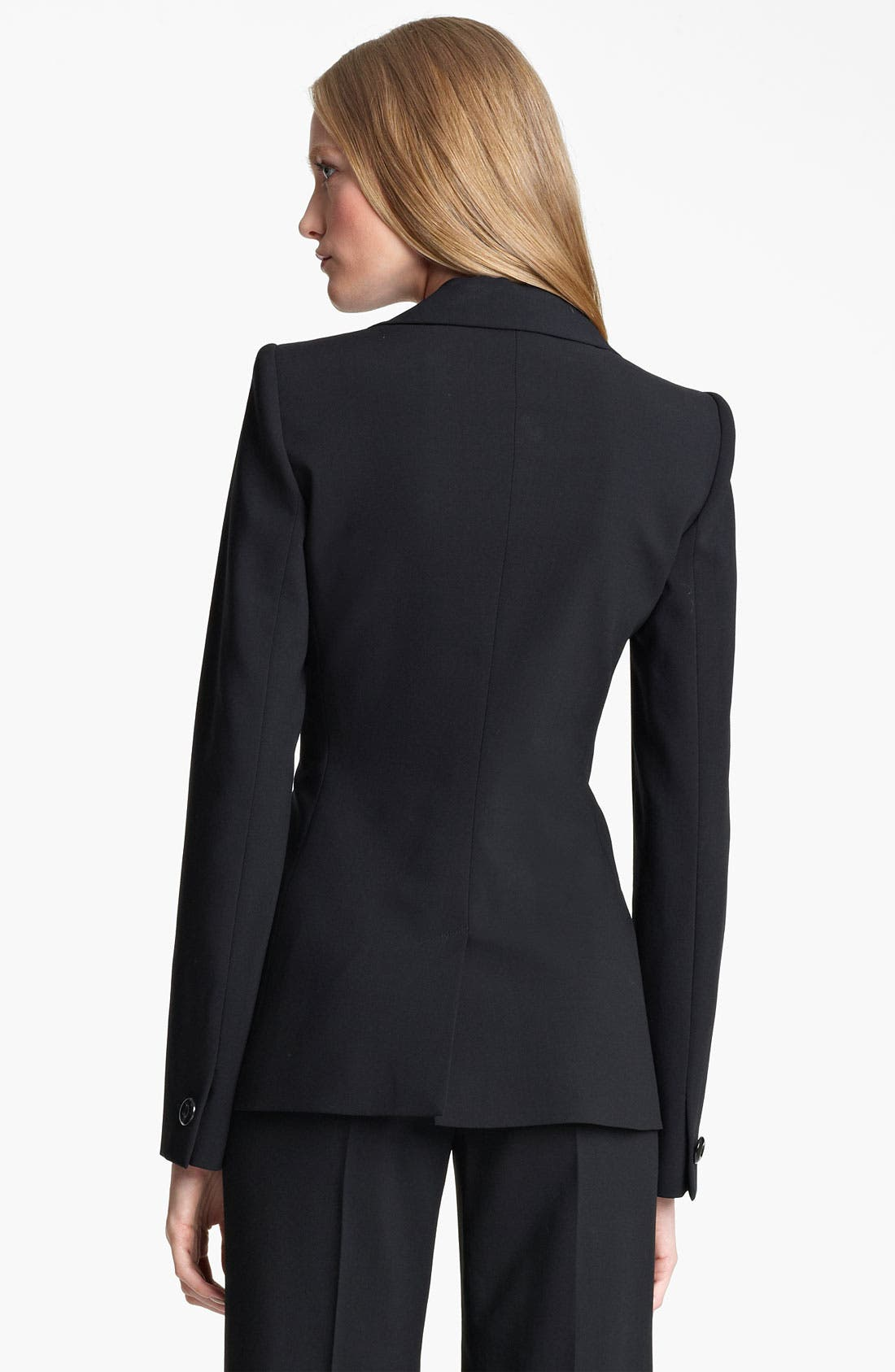 Alternate Image 2  - Armani Collezioni Asymmetrical Featherweight Wool Jacket