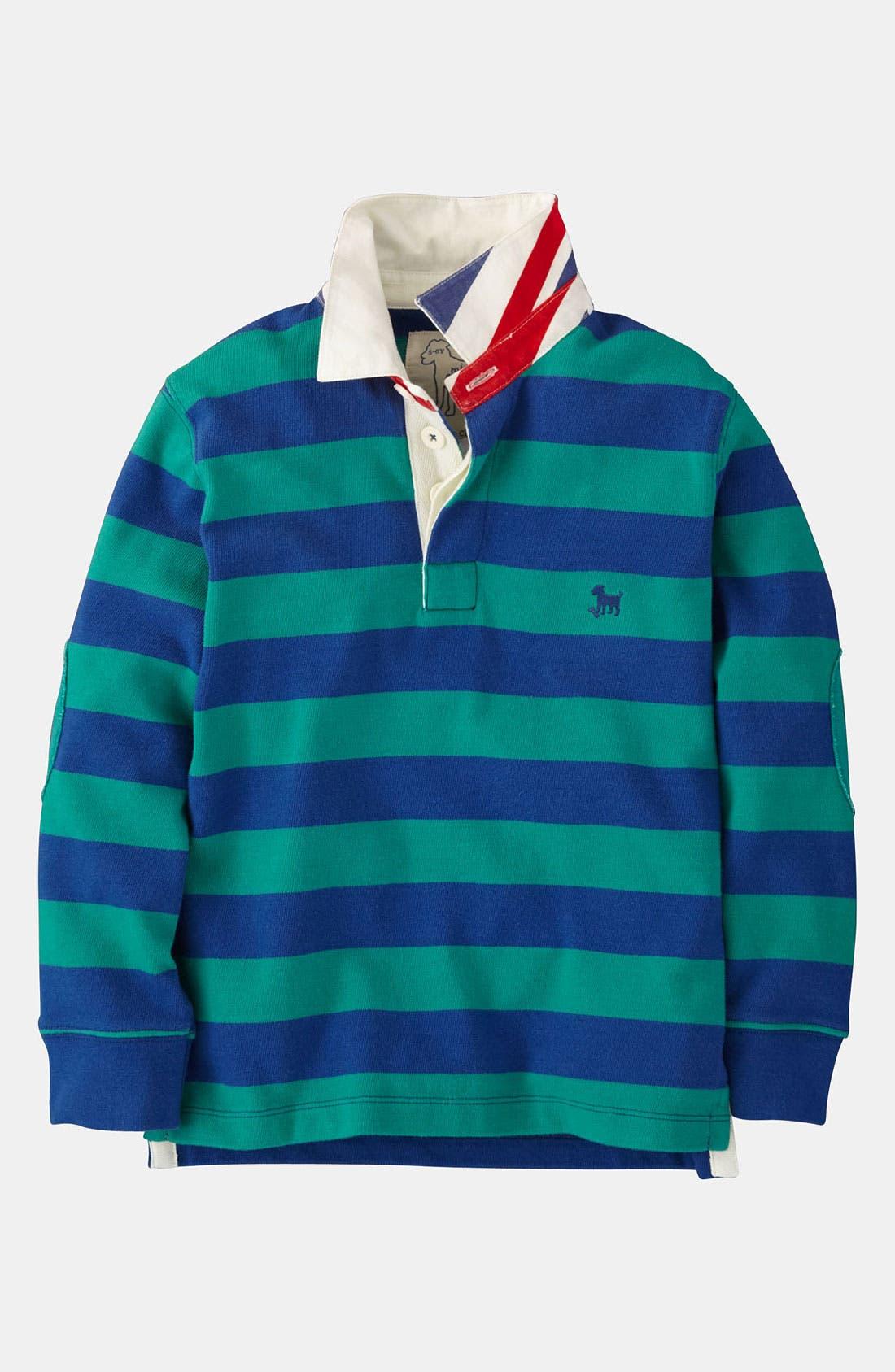 Alternate Image 1 Selected - Mini Boden Rugby Shirt (Little Boys & Big Boys)