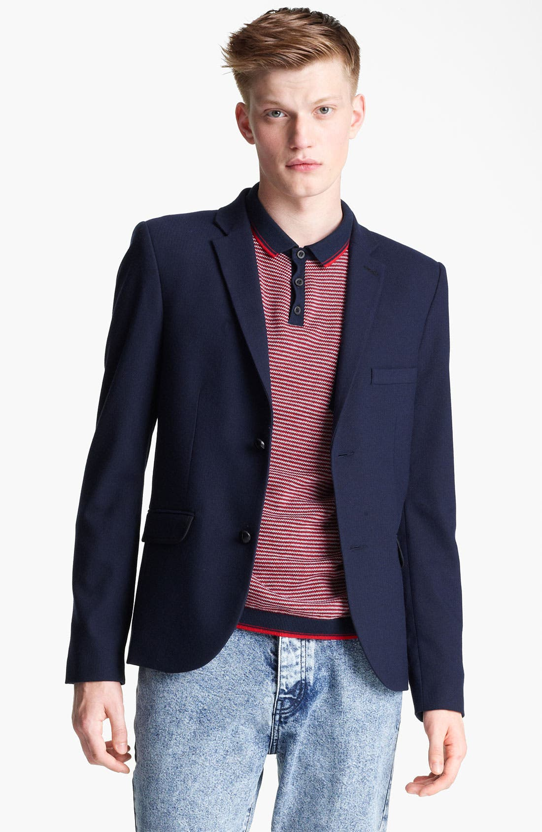 Alternate Image 1 Selected - Topman Heritage Fit Herringbone Blazer