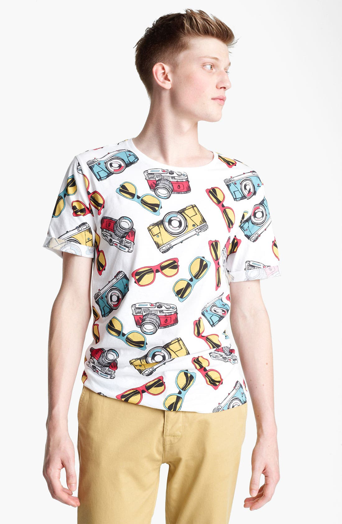 Alternate Image 1 Selected - Topman 'Sunglasses and Cameras' All Over Print T-Shirt