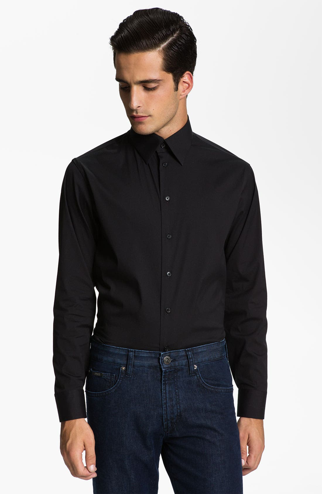 Alternate Image 1 Selected - Armani Collezioni Trim Fit Sport Shirt