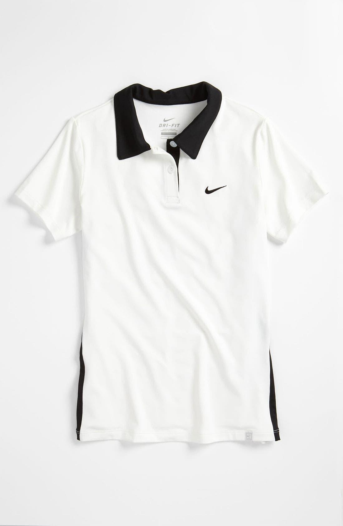 Main Image - Nike 'Border' Tennis Polo (Big Girls)