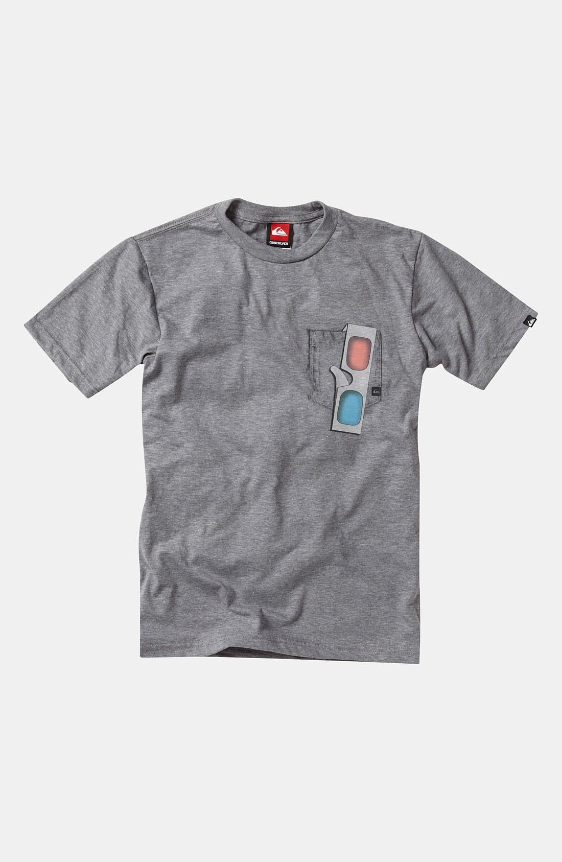 Main Image - Quiksilver '3D Fake Out' T-Shirt (Big Boys)
