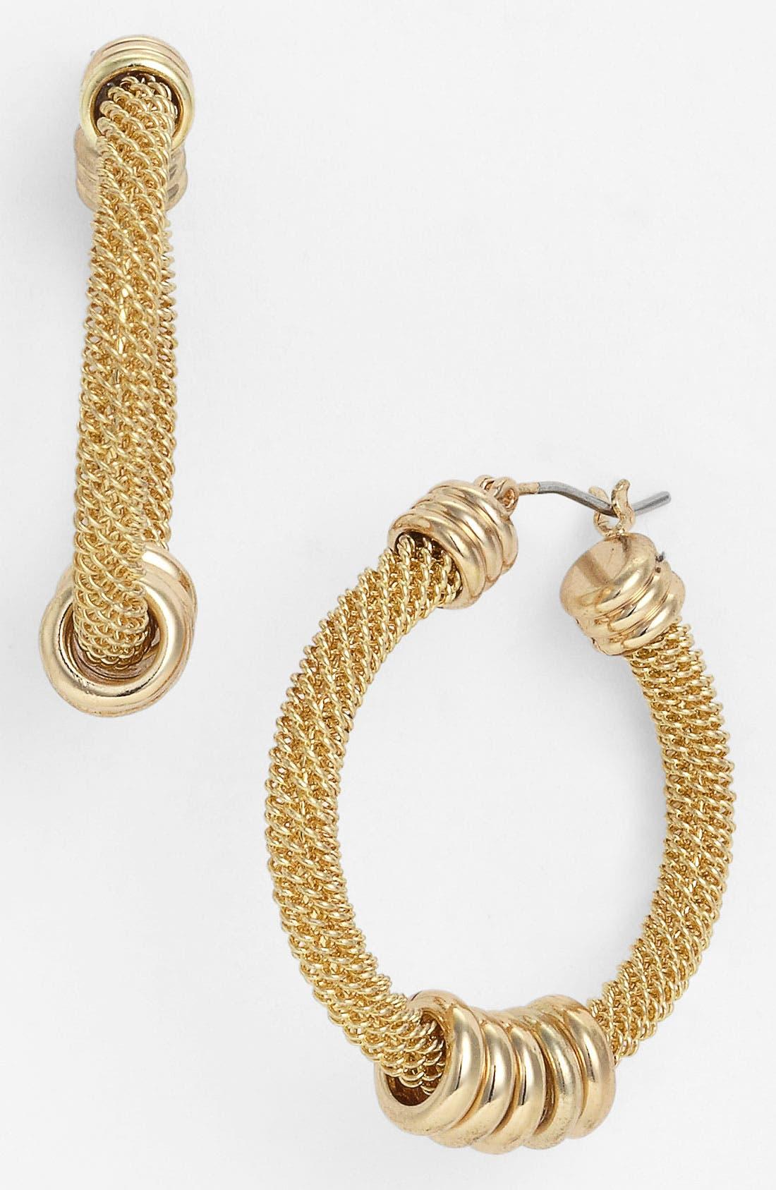 Alternate Image 1 Selected - Anne Klein 'Arcadia' Hoop Earrings