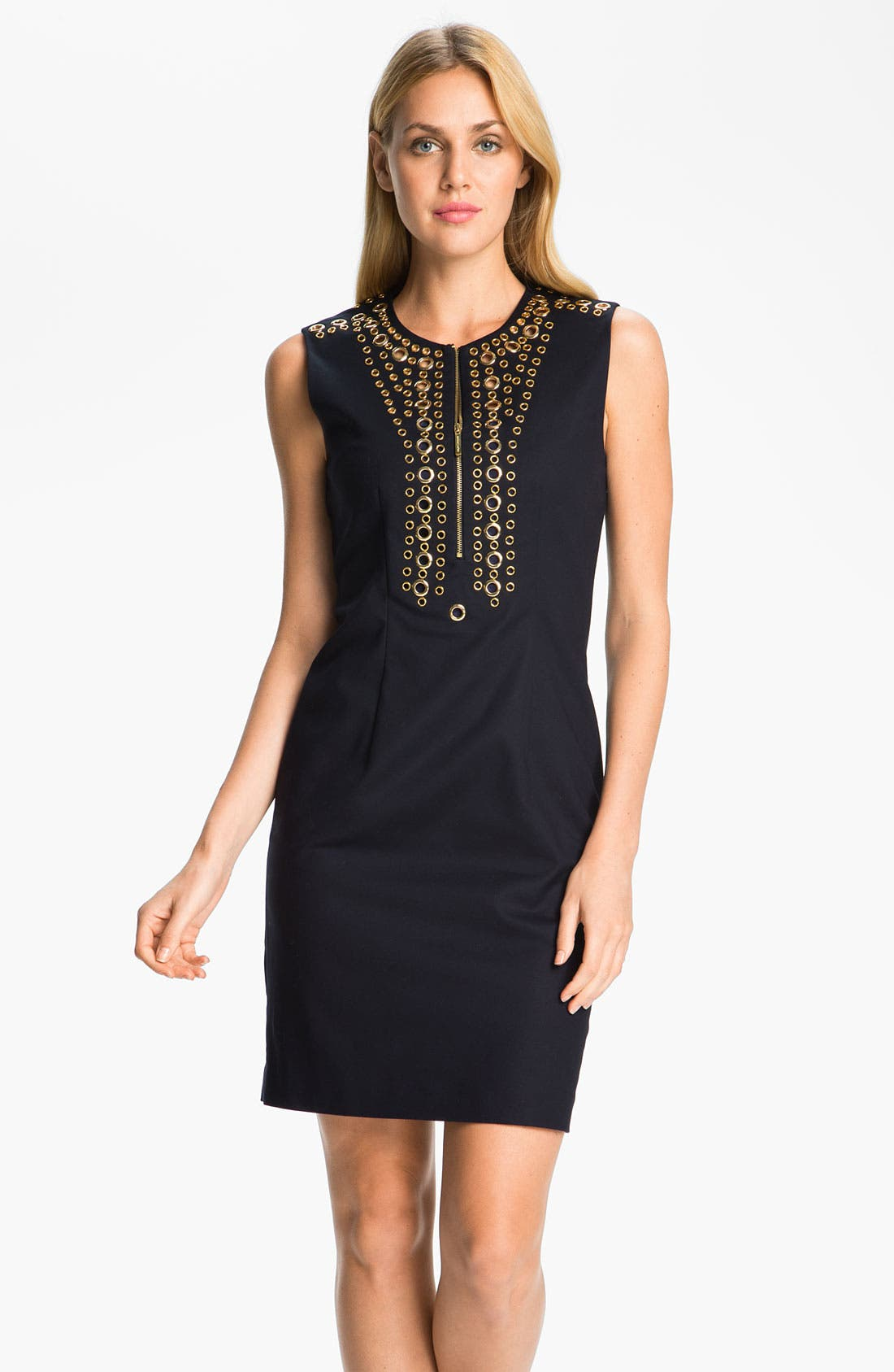 Alternate Image 1 Selected - MICHAEL Michael Kors Grommet Trim Dress
