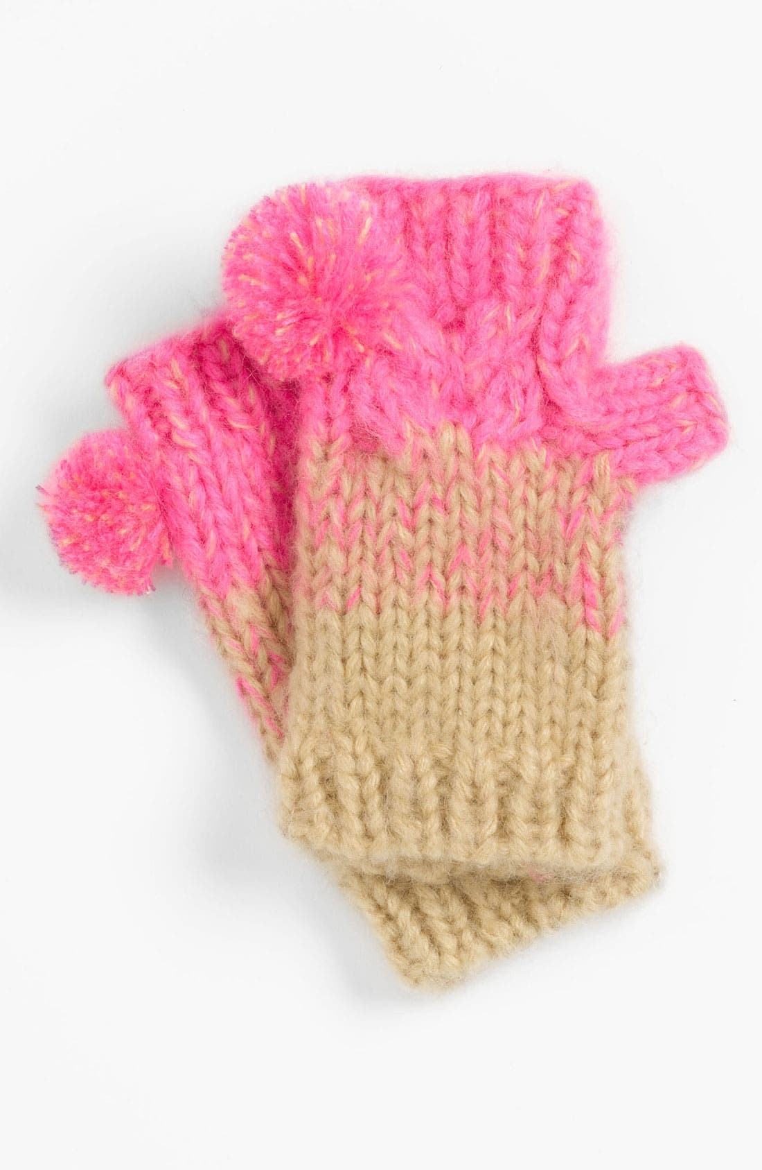 Alternate Image 1 Selected - Peace of Cake 'Pigtail' Fingerless Gloves (Girls)