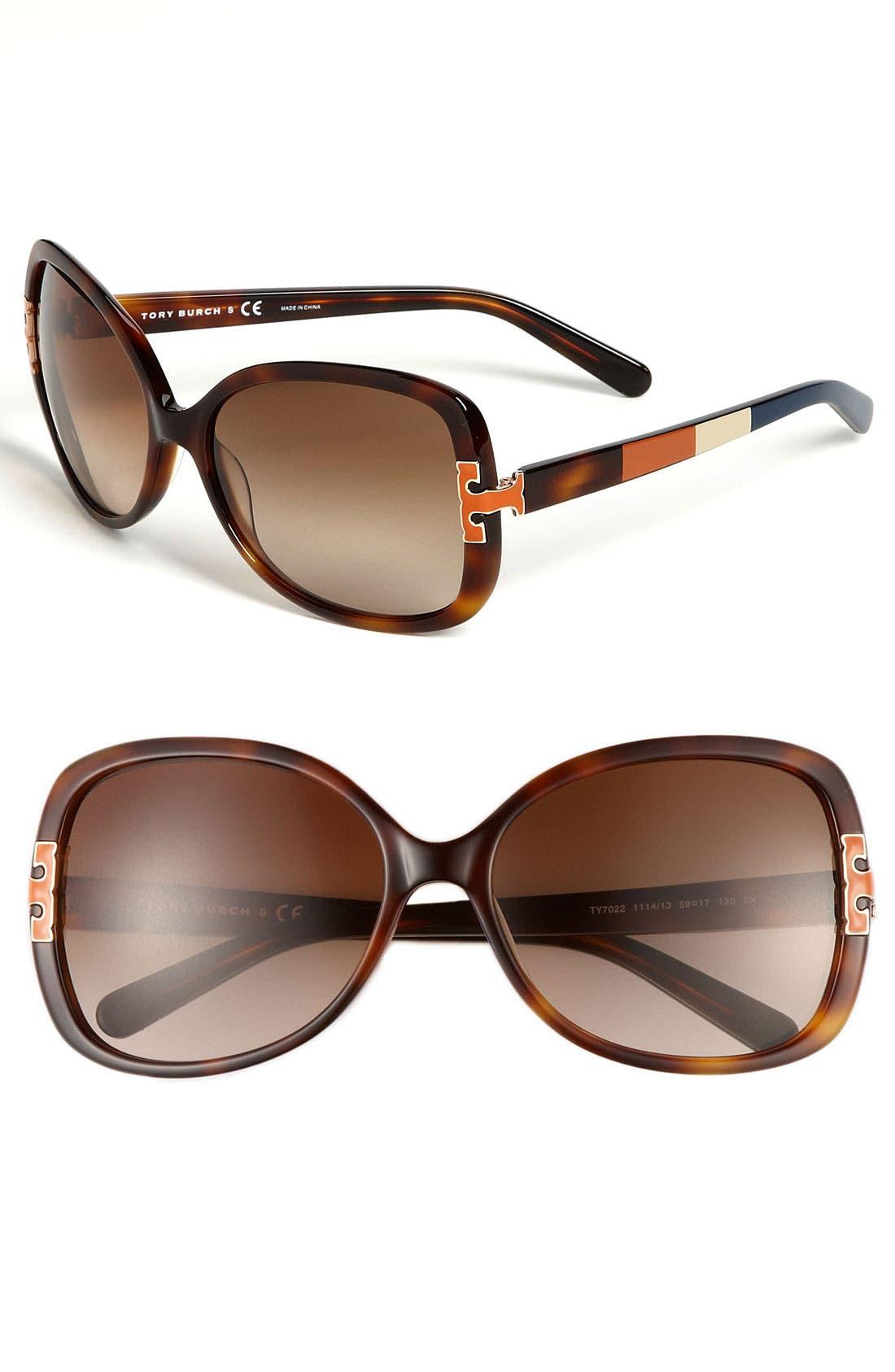Main Image - Tory Burch 59mm Oversized Sunglasses