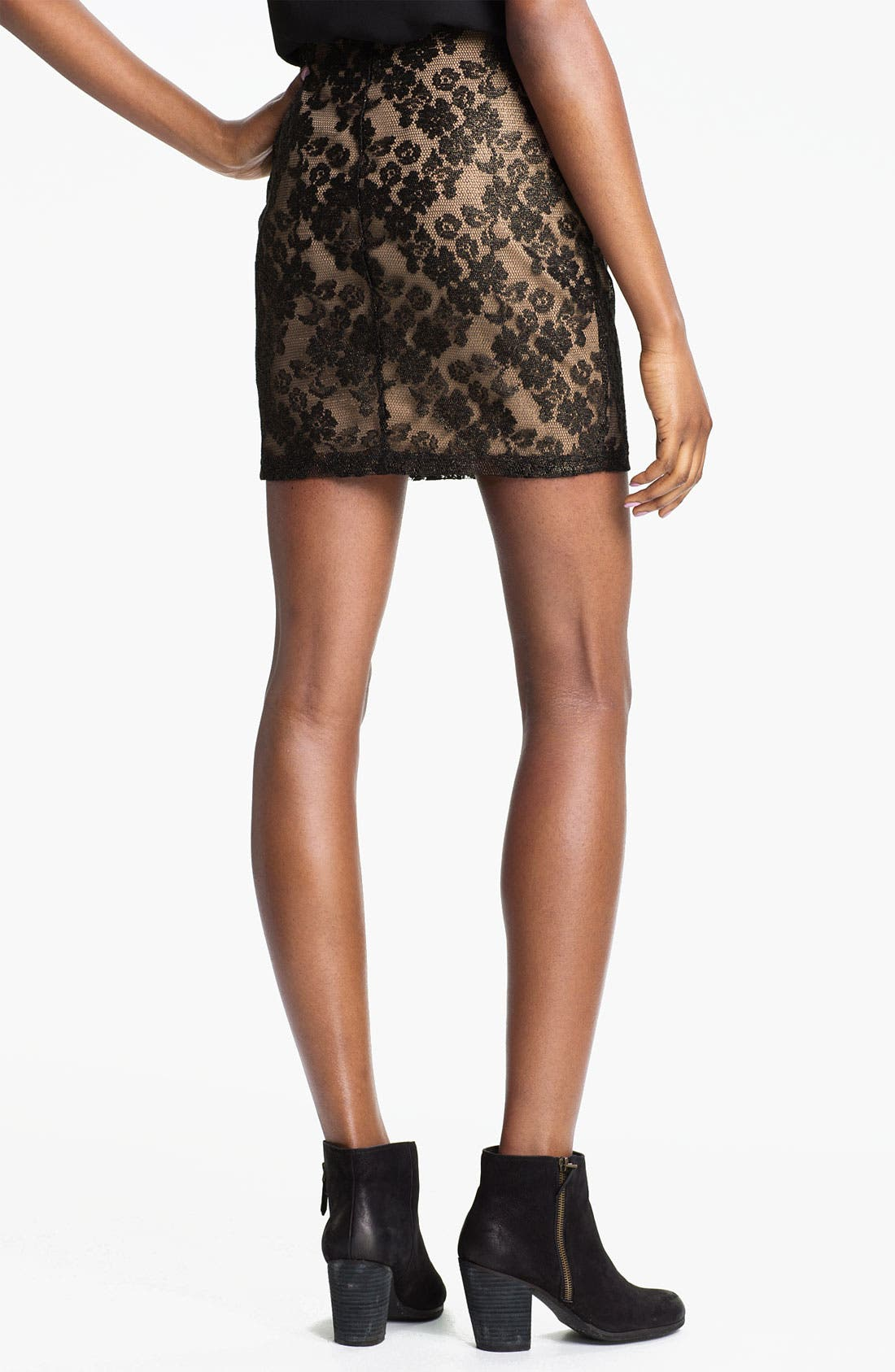 Alternate Image 2  - Lush Lace Skirt (Juniors)