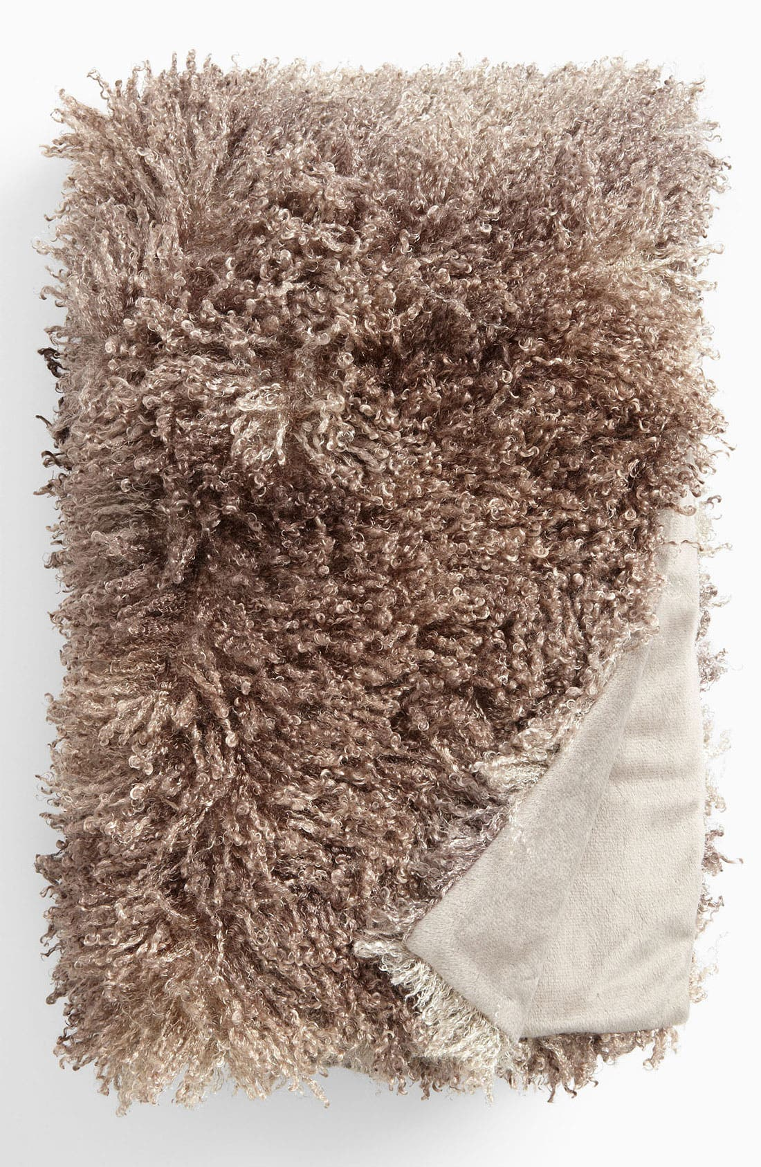 Alternate Image 1 Selected - Nordstrom at Home Curly Faux Fur Throw
