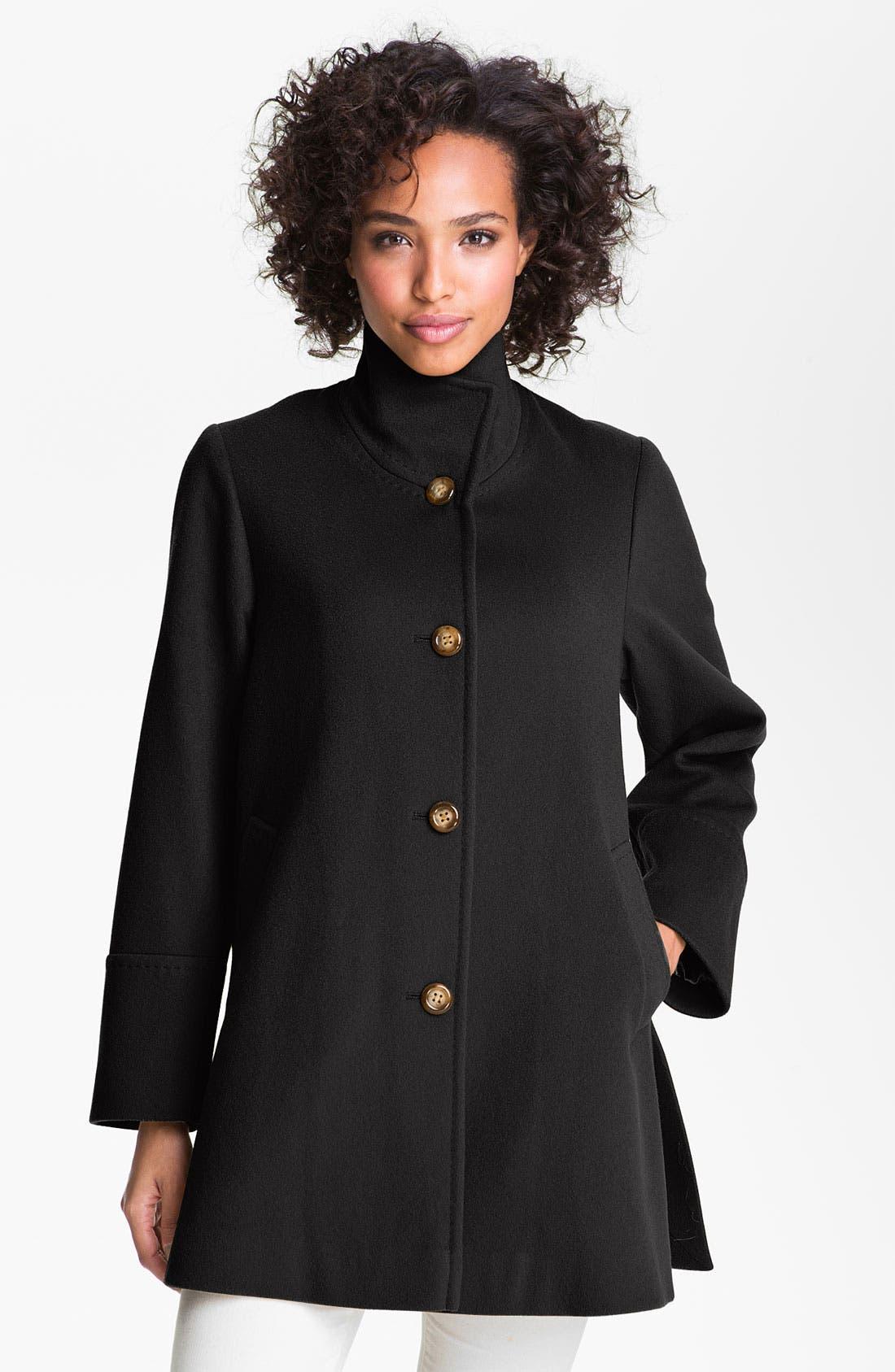 Main Image - Fleurette Stand Collar Loro Piana Wool Jacket (Petite)