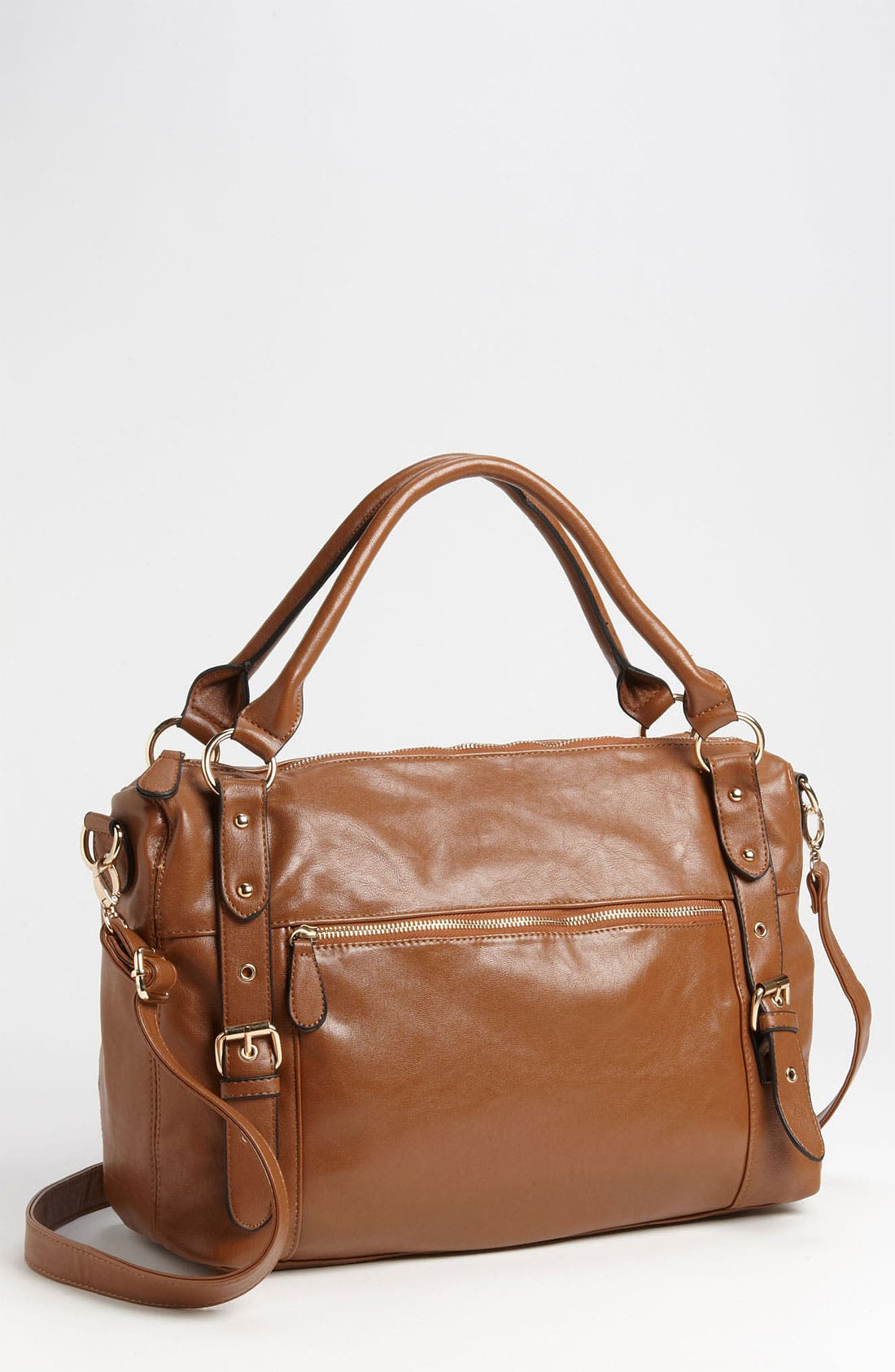 Alternate Image 1 Selected - NB Handbags Buckle Trim Satchel (Juniors)