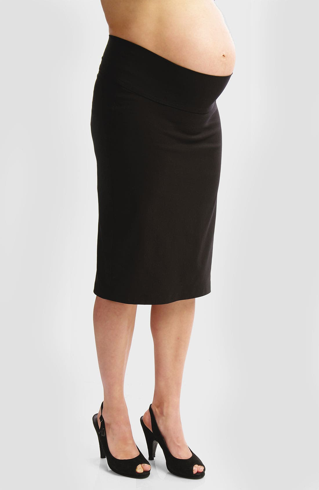 Alternate Image 1 Selected - Japanese Weekend 'Bengaline' Straight Maternity Skirt