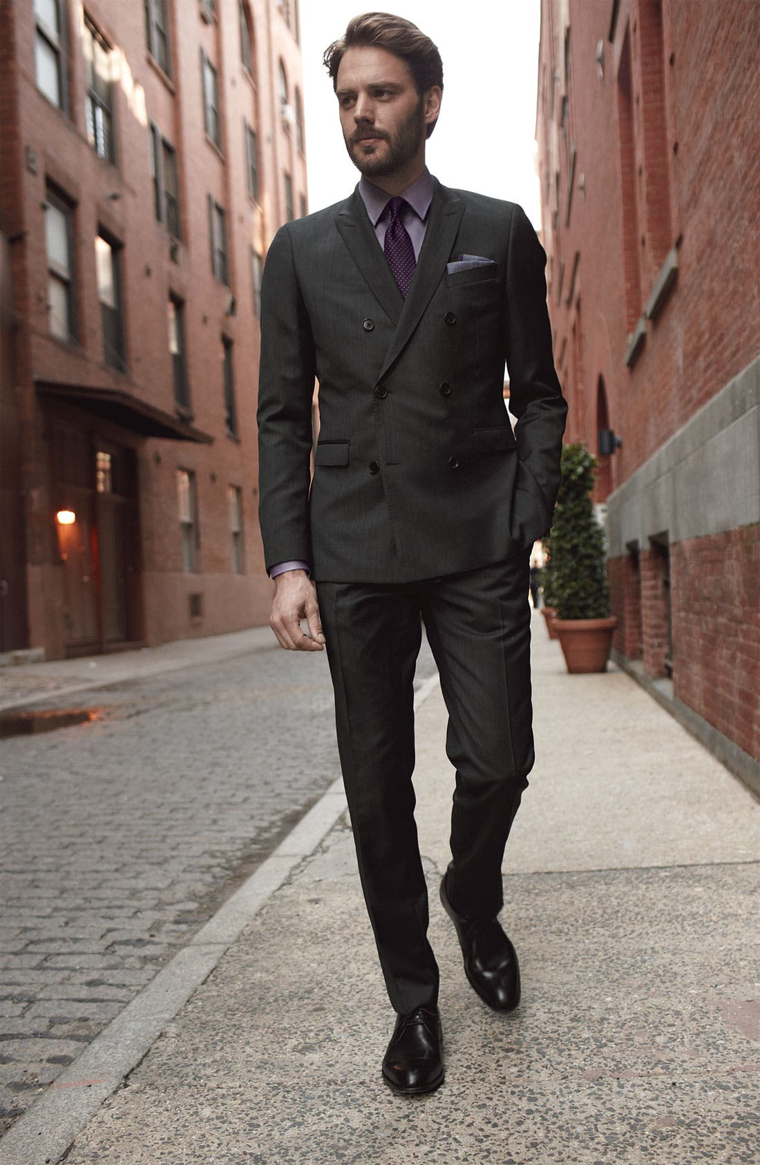 Alternate Image 2  - BOSS Black Suit & Dress Shirt