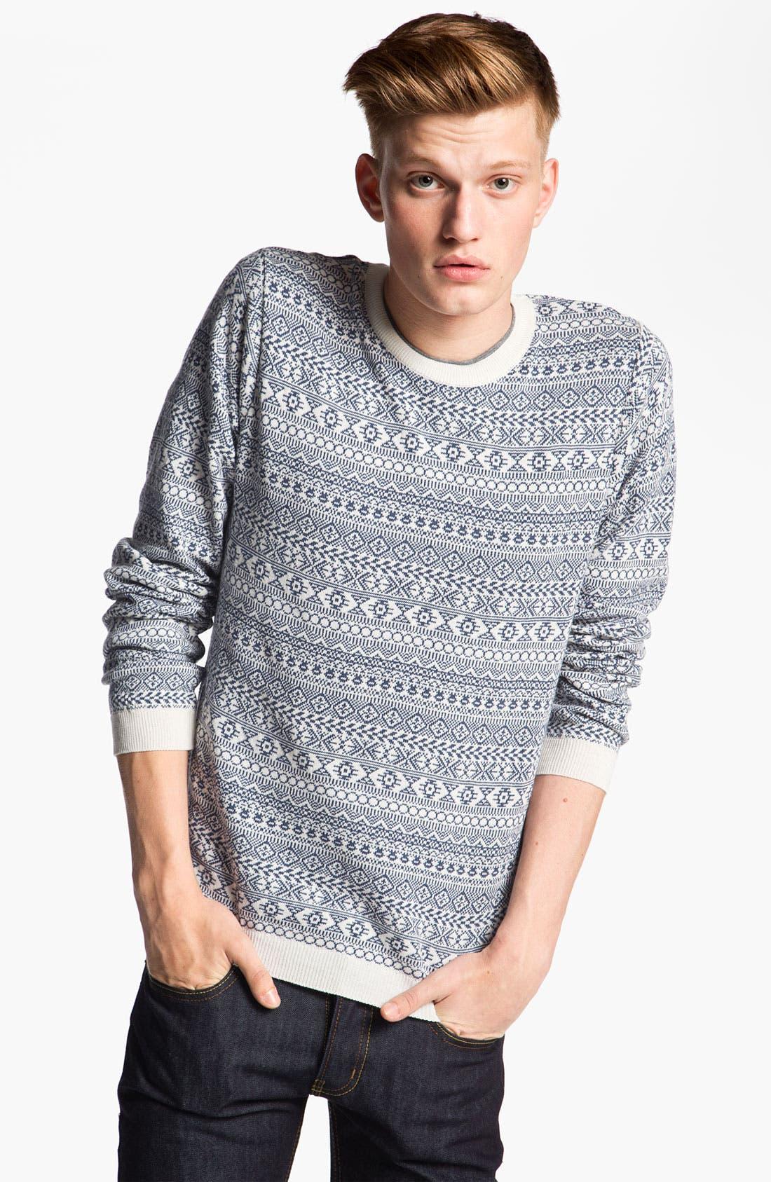 Alternate Image 1 Selected - Topman Geometric Pattern Knit Sweater