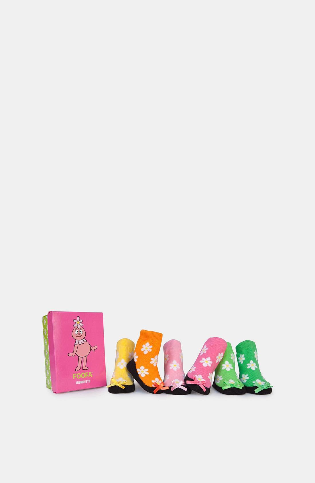 Main Image - Trumpette 'Foofa' Socks (6-Pack) (Infant)