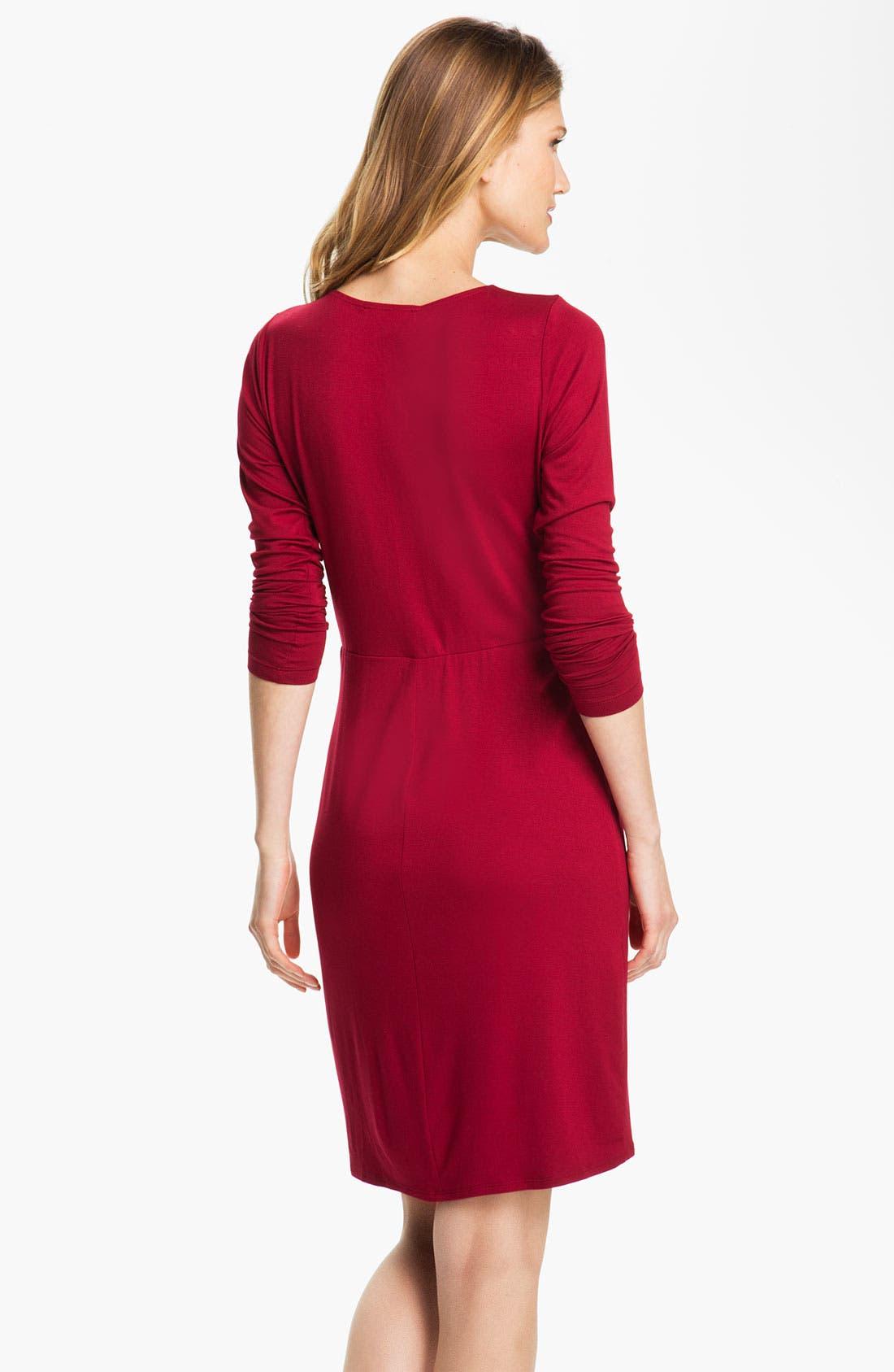 Alternate Image 2  - Karen Kane Pleated Faux Wrap Dress