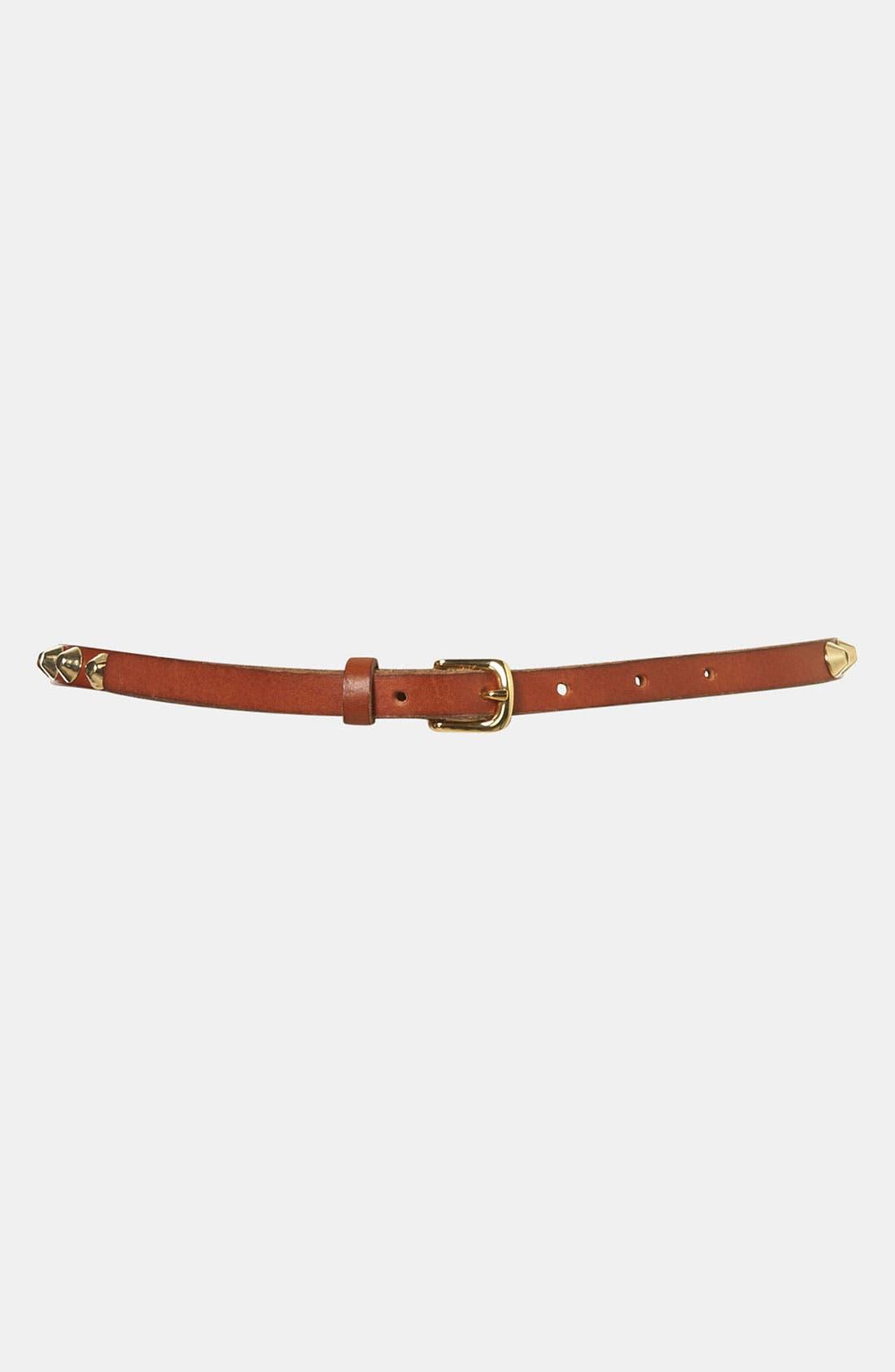 Alternate Image 1 Selected - Topshop 'Grunge' Studded Leather Belt