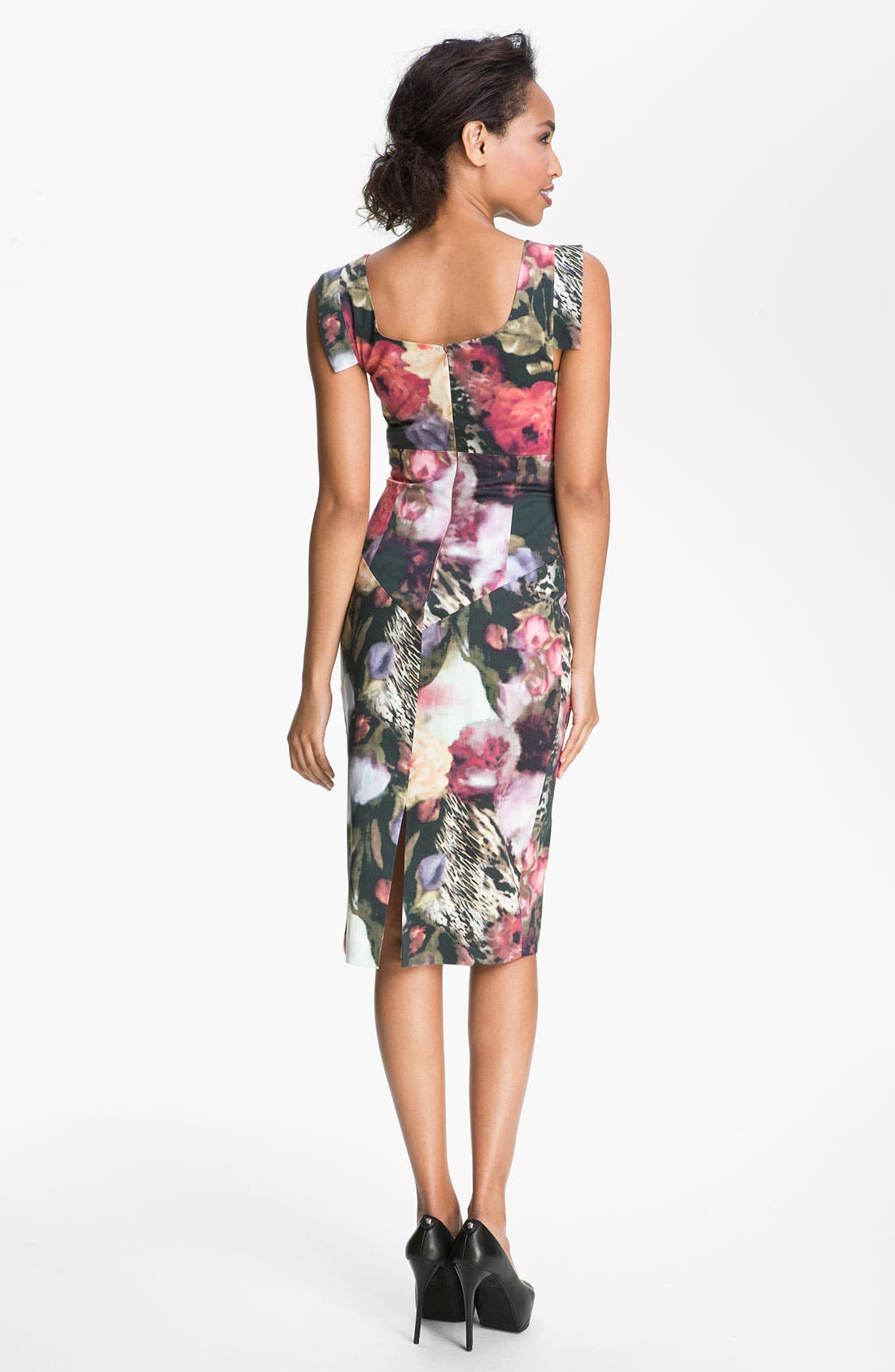 Alternate Image 2  - Black Halo Floral Print Sheath Dress