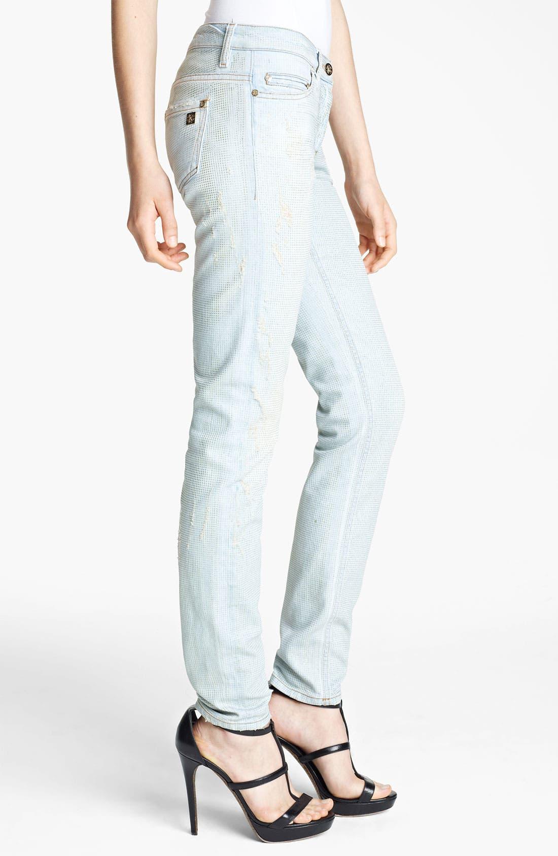 Alternate Image 3  - Roberto Cavalli Crystal Encrusted Skinny Jeans