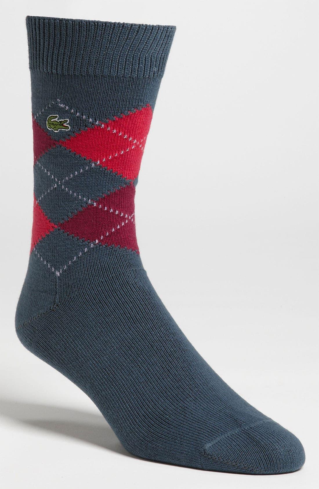 Main Image - Lacoste Argyle Crew Socks