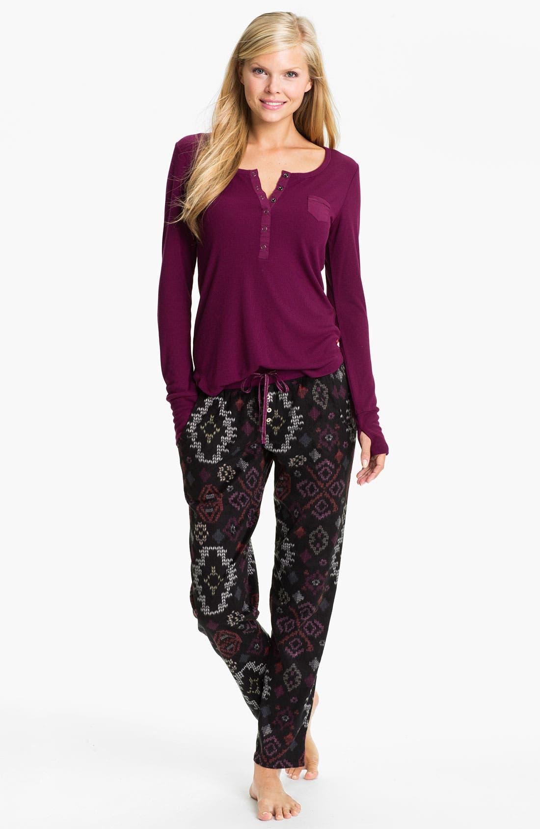 Alternate Image 1 Selected - Kensie Henley Fleece Pajamas