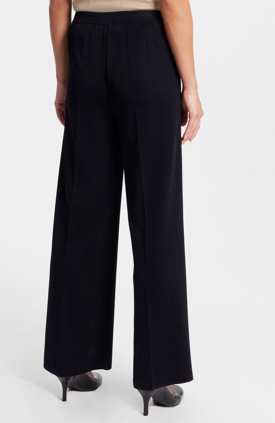 Wide Leg Pants,                             Alternate thumbnail 2, color,                             Black