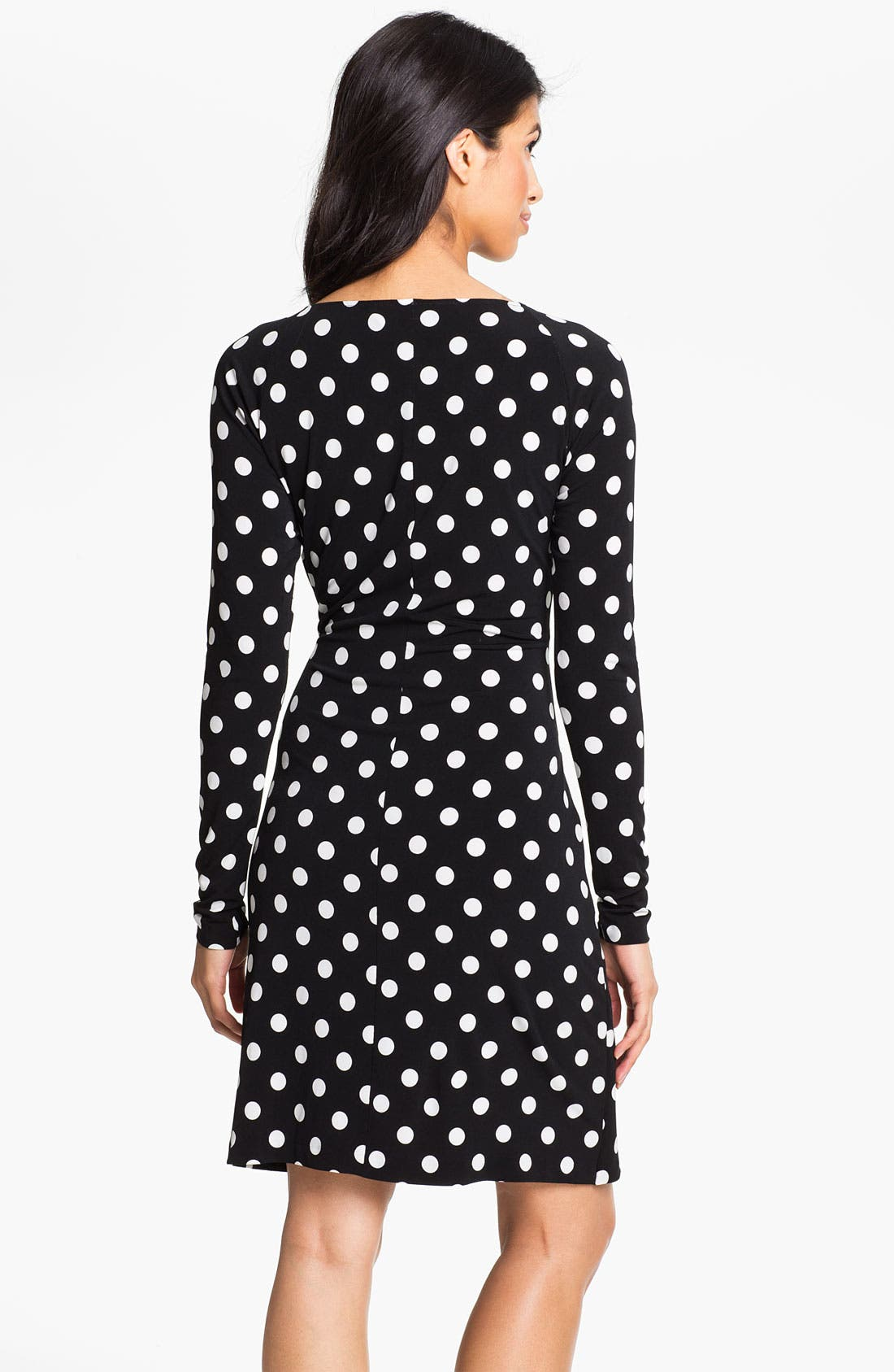 Alternate Image 2  - KAMALIKULTURE Polka Dot Draped Dress
