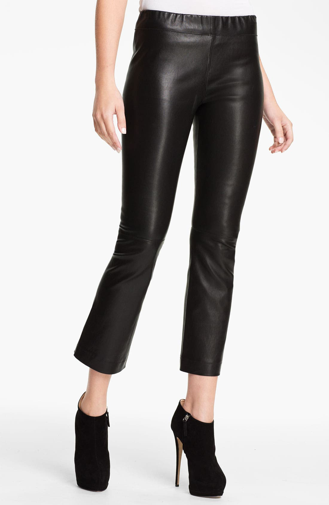 Main Image - Elizabeth and James 'Allen' Crop Bootcut Leather Pants