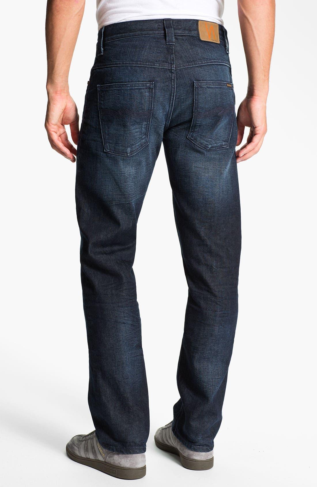 Alternate Image 1 Selected - Nudie 'Hank Rey' Straight Leg Jeans (Organic All Crinkled Up)