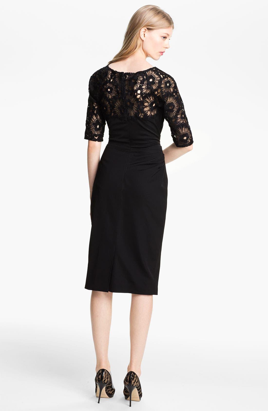 Alternate Image 2  - Lela Rose Side Ruched Dress