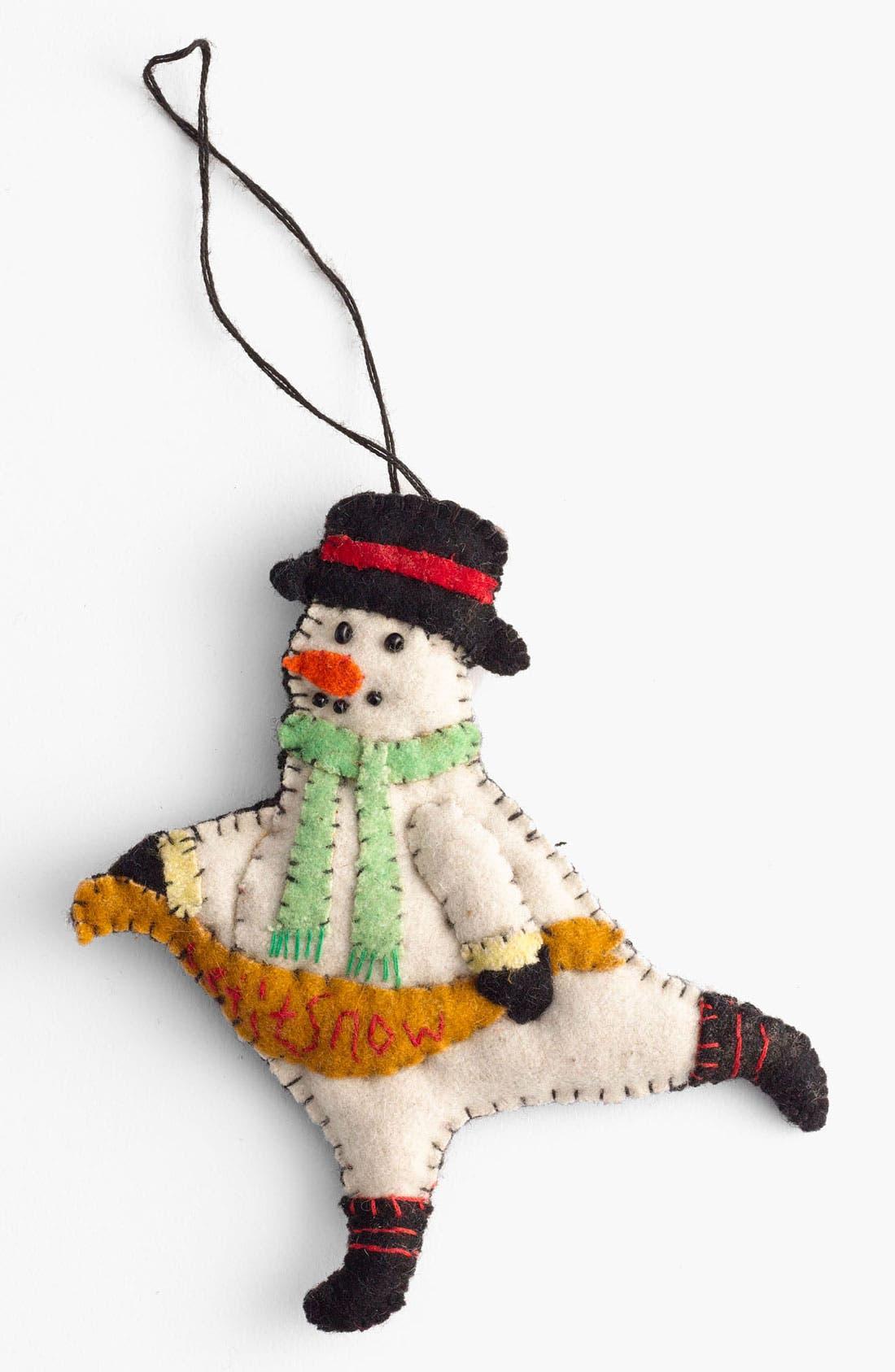 Main Image - New World Arts 'Let It Snow' Snowman Ornament