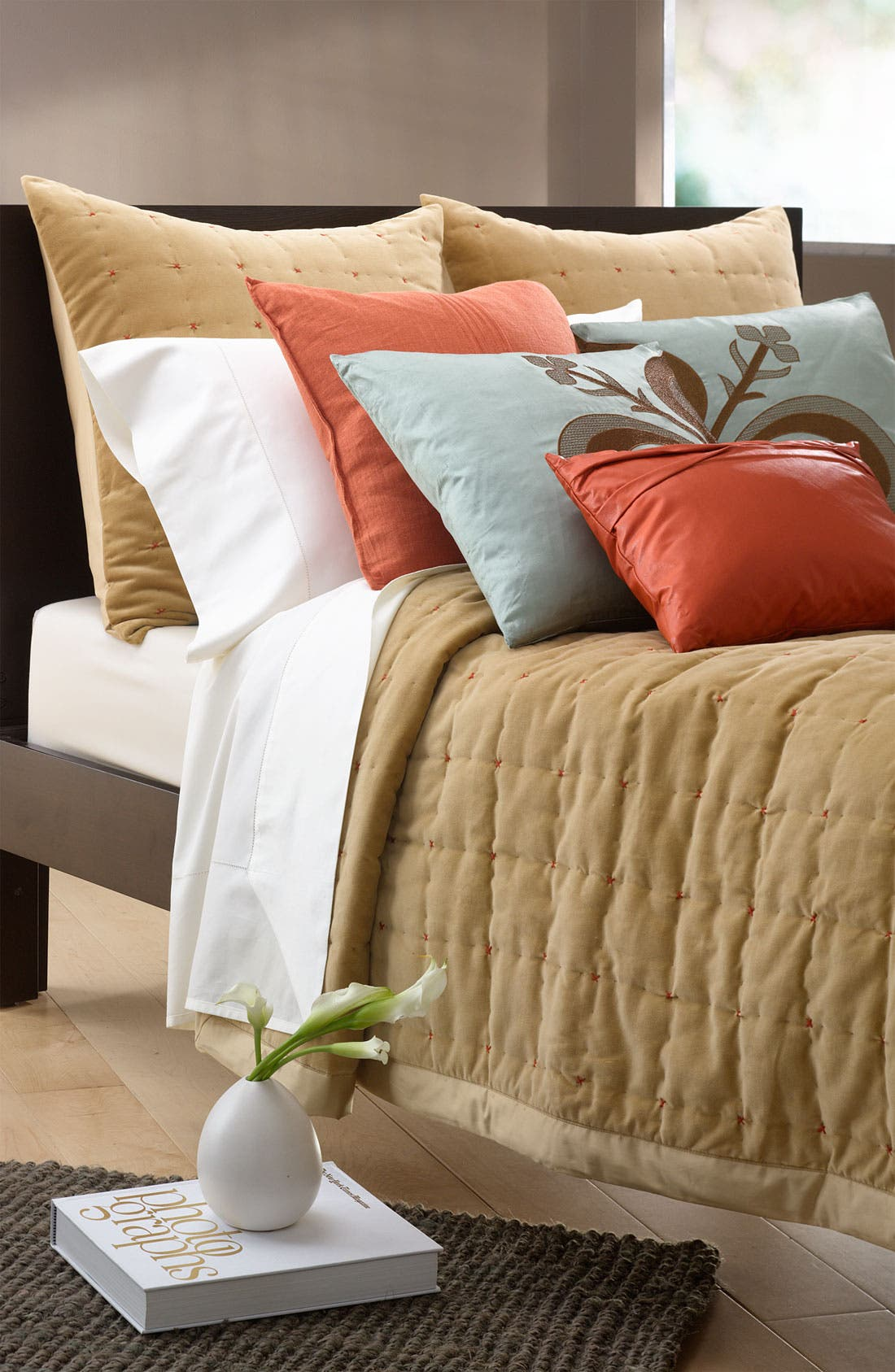 Alternate Image 2  - Blissliving Home 'Paulo - Camel' Velvet & Sateen Coverlet (Online Only)