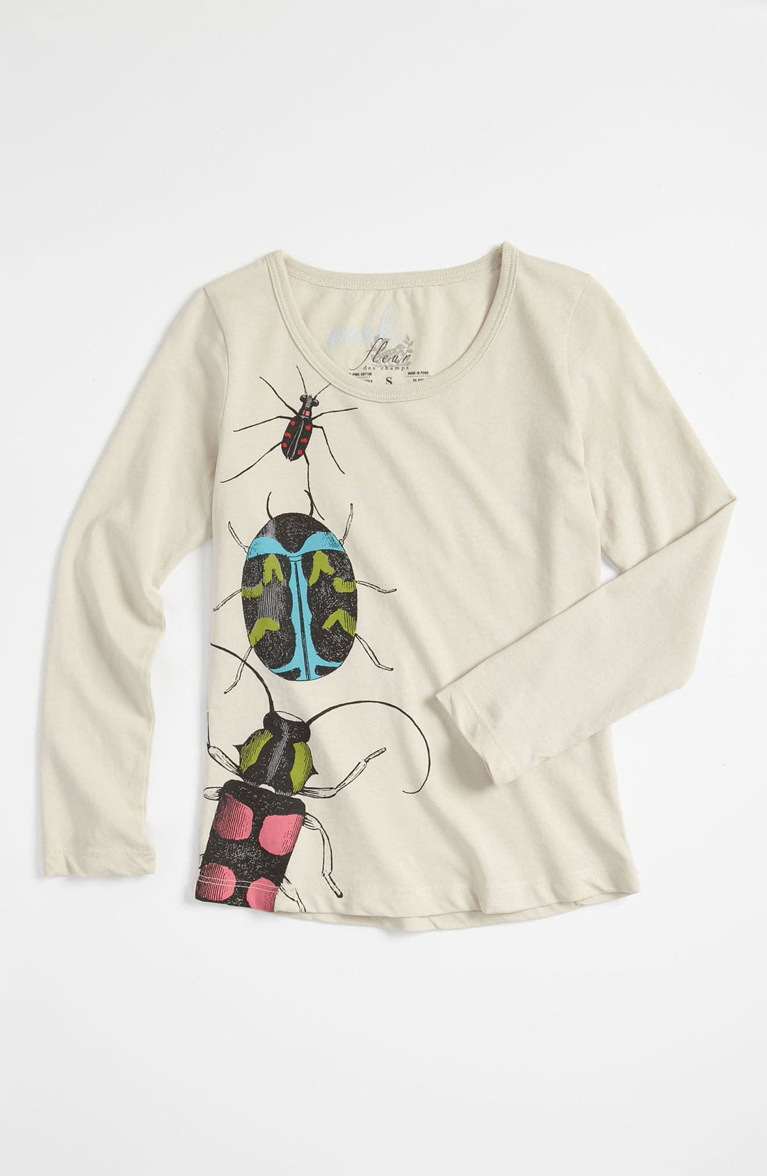 Alternate Image 1 Selected - Peek 'Beetle' Tee (Toddler, Little Girls & Big Girls)