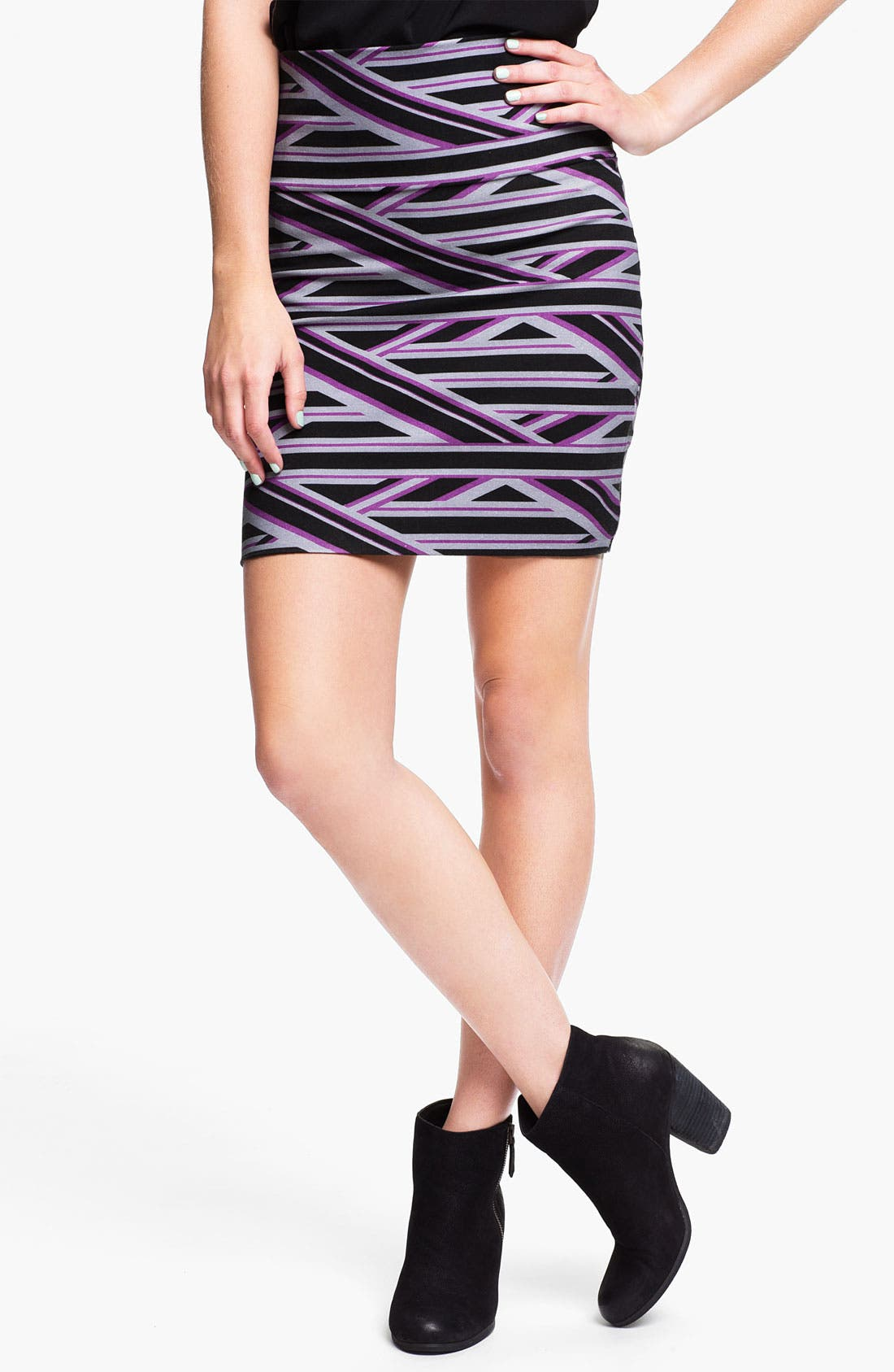 Alternate Image 1 Selected - Lily White Bandage Miniskirt (Juniors)
