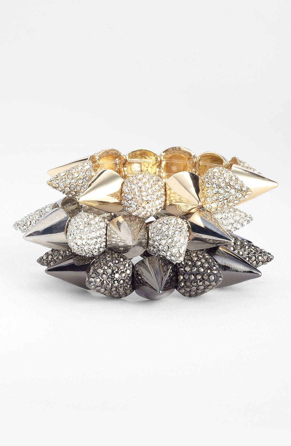 Alternate Image 1 Selected - Cara Spiked Stretch Bracelet