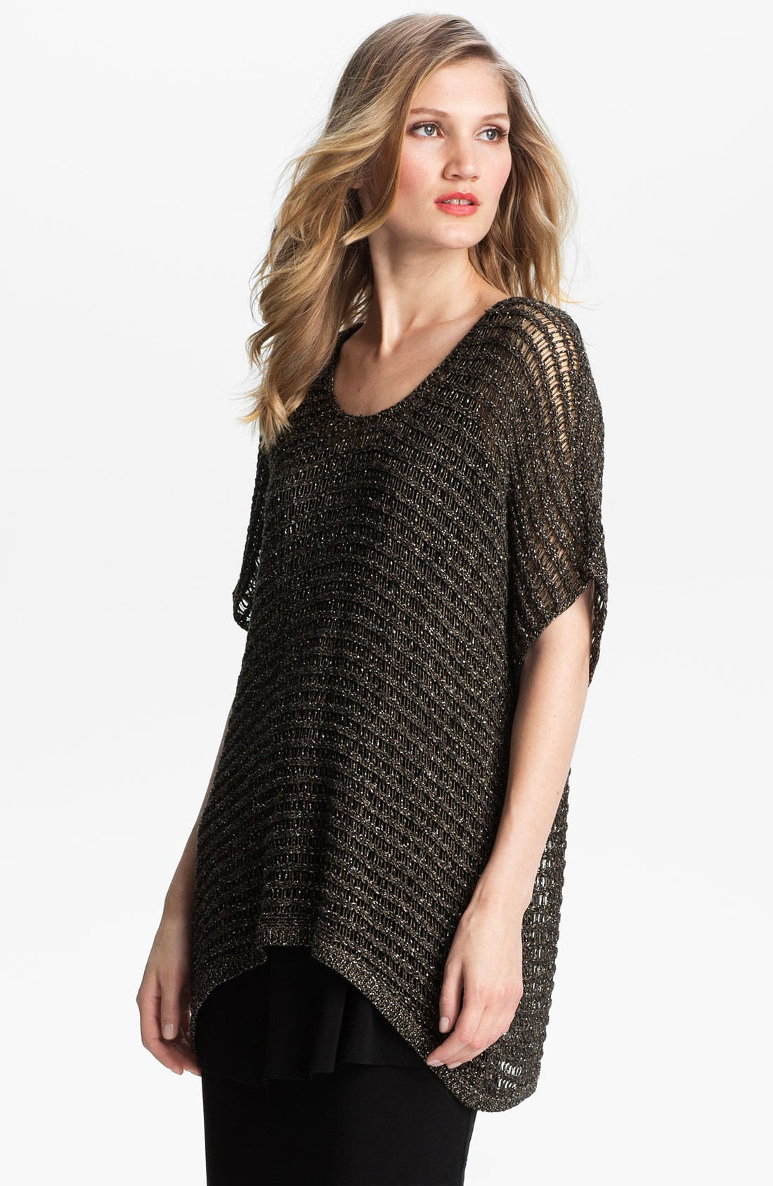 Alternate Image 1 Selected - Eileen Fisher Sparkle Mesh Tunic