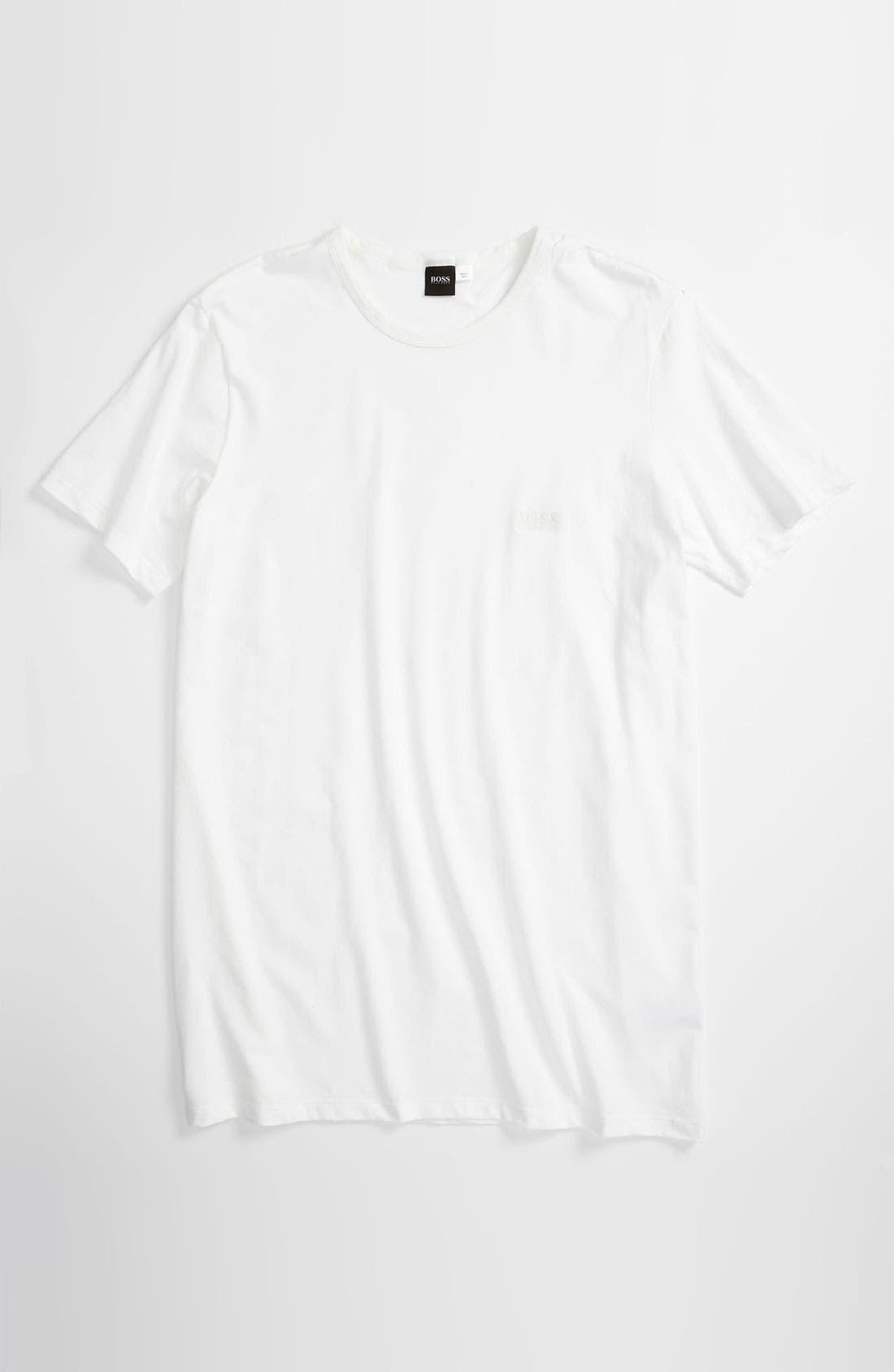 Main Image - BOSS HUGO BOSS Crewneck Stretch Cotton T-Shirt (Big) (Online Only)