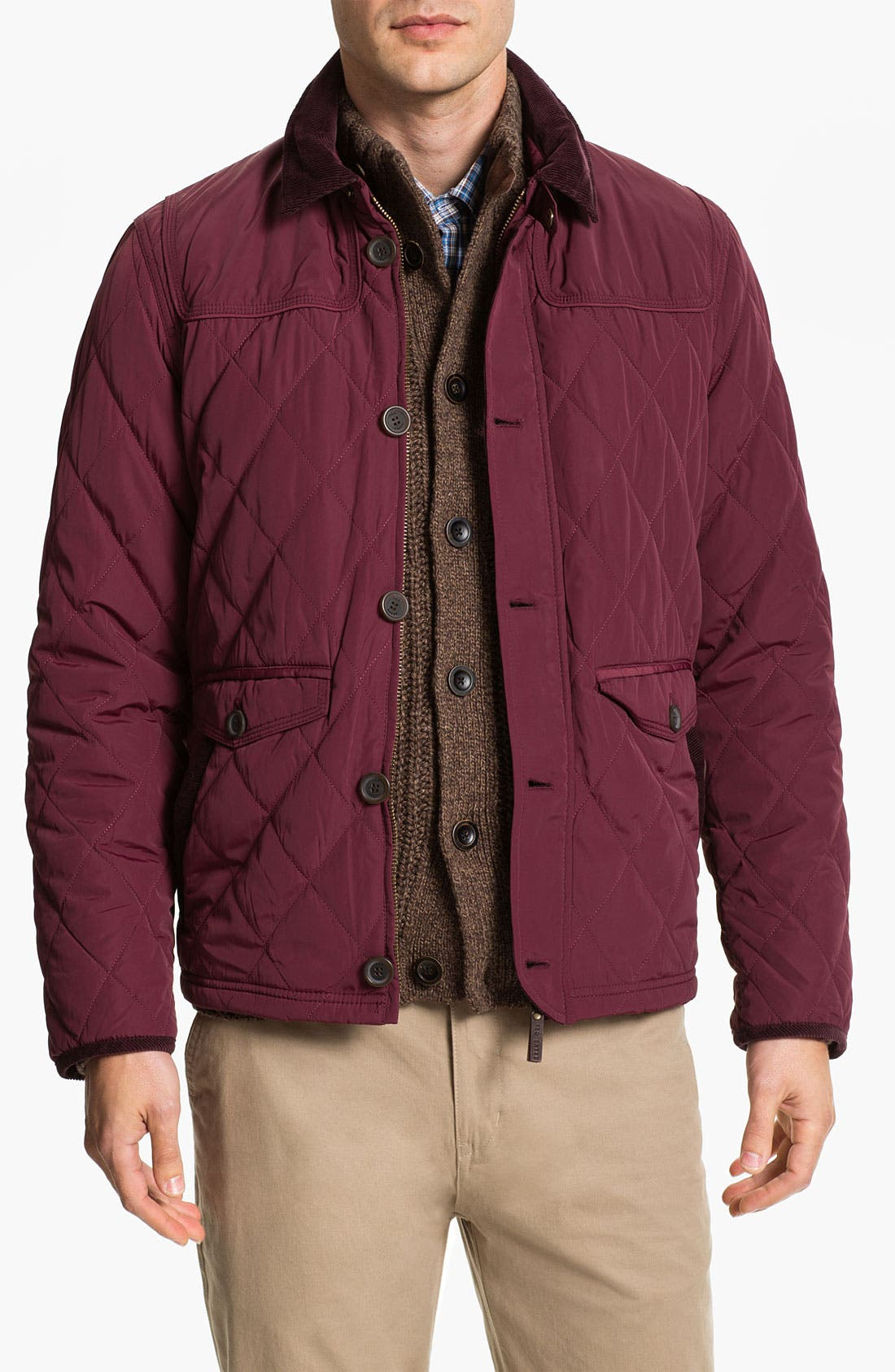 Alternate Image 1 Selected - Ted Baker London 'Narbin' Quilted Jacket