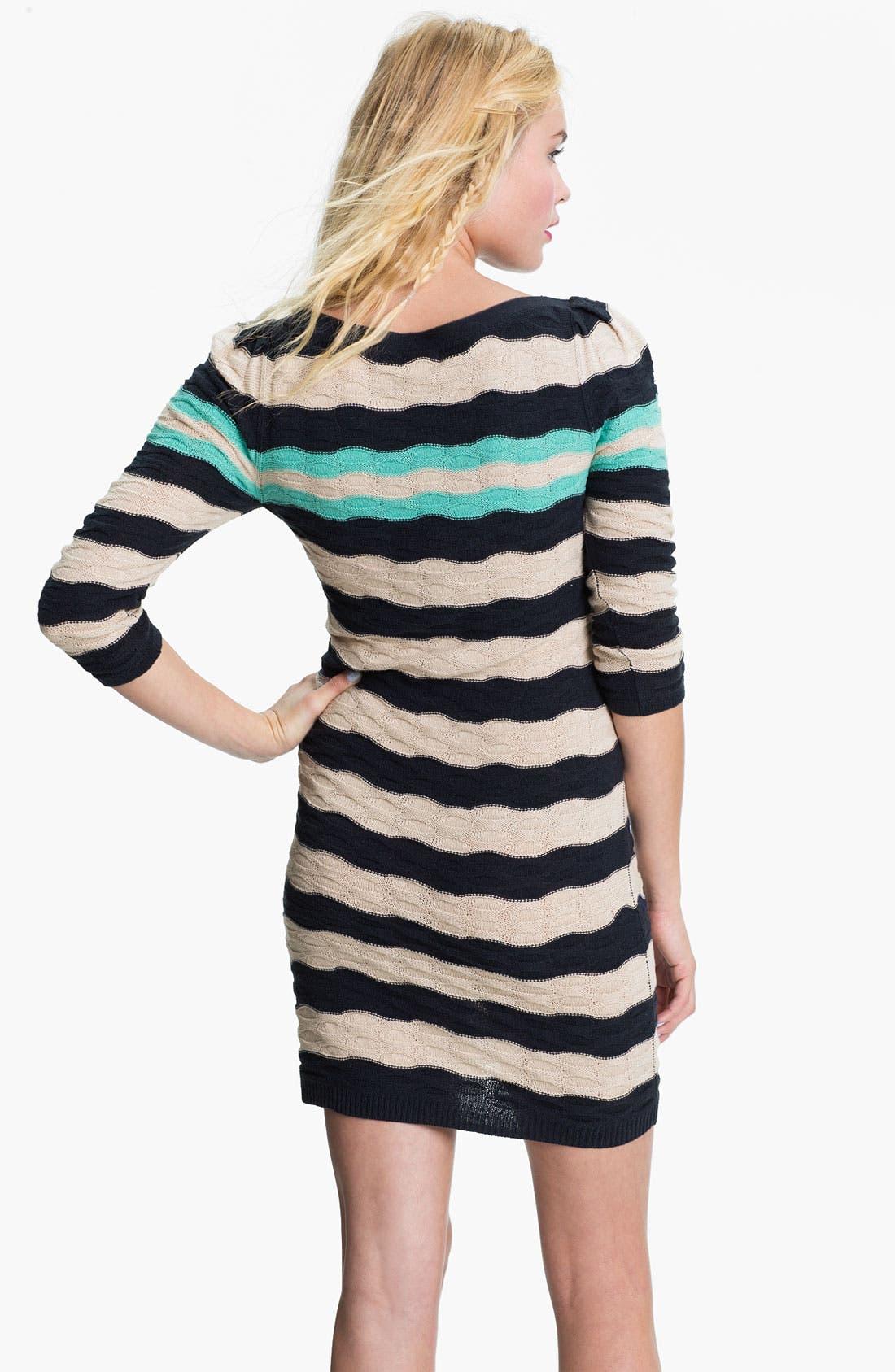 Alternate Image 2  - BP. Texture Knit Sweater Dress (Juniors)