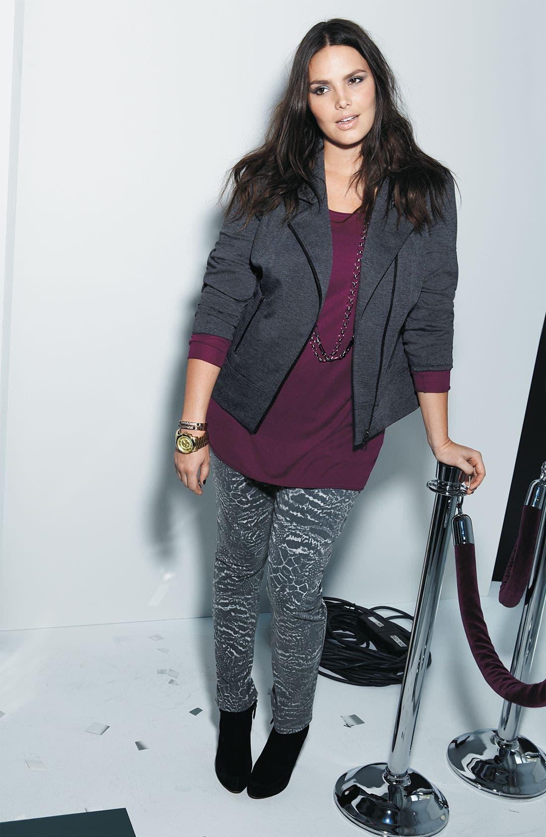 Main Image - Sejour Jacket & Sweater, & NYDJ Skinny Twill Jeans
