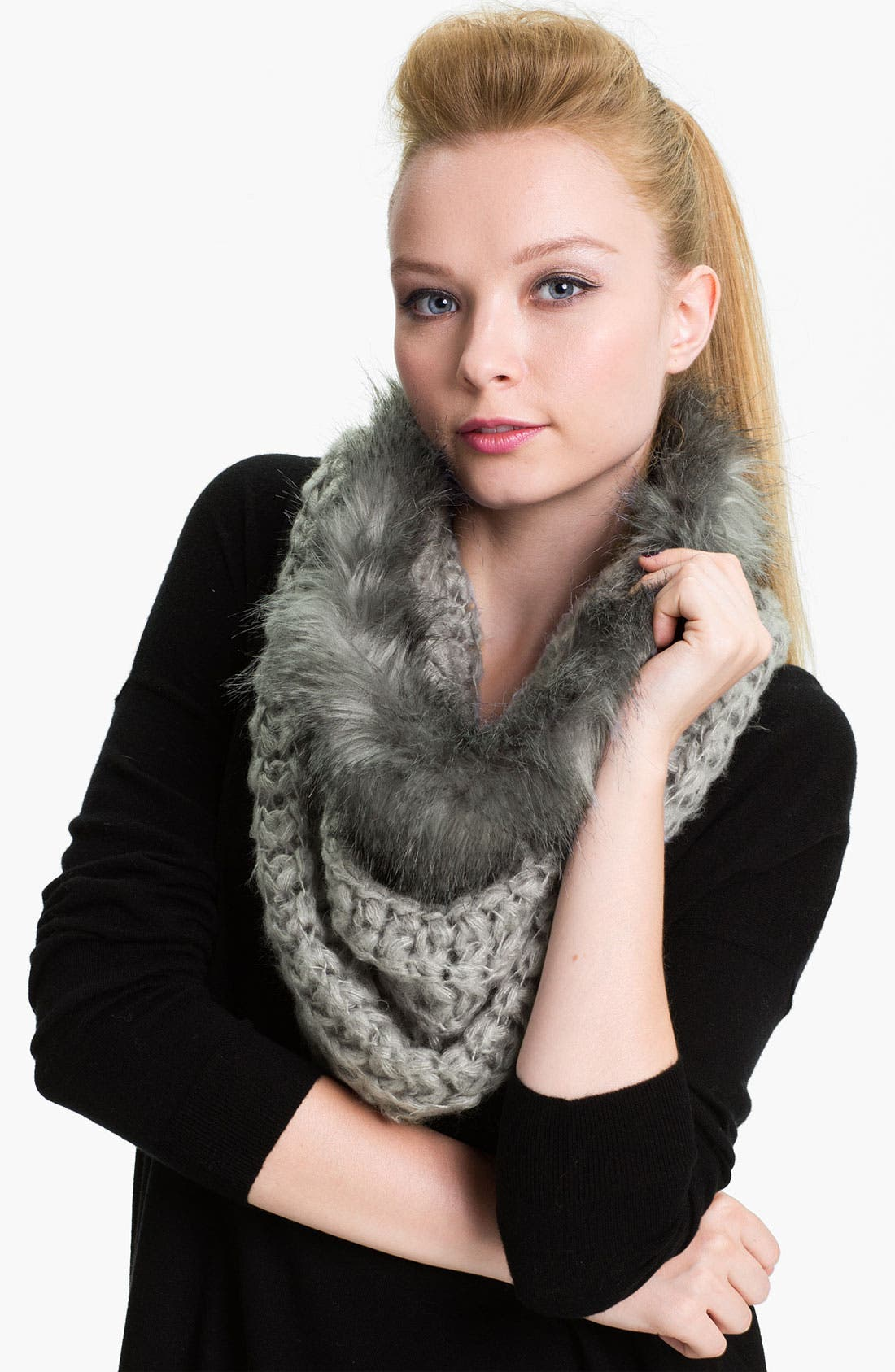 Alternate Image 1 Selected - Collection XIIX 'Chunky Tuck'  Faux Fur Cowl
