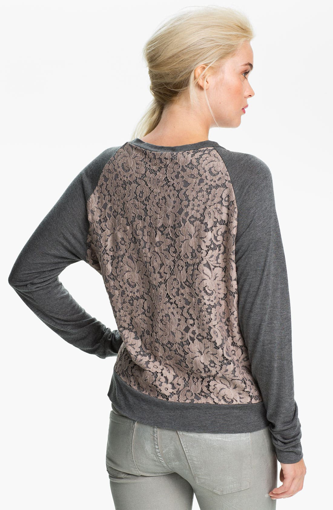 Alternate Image 2  - Haute Hippie Lace Sweatshirt