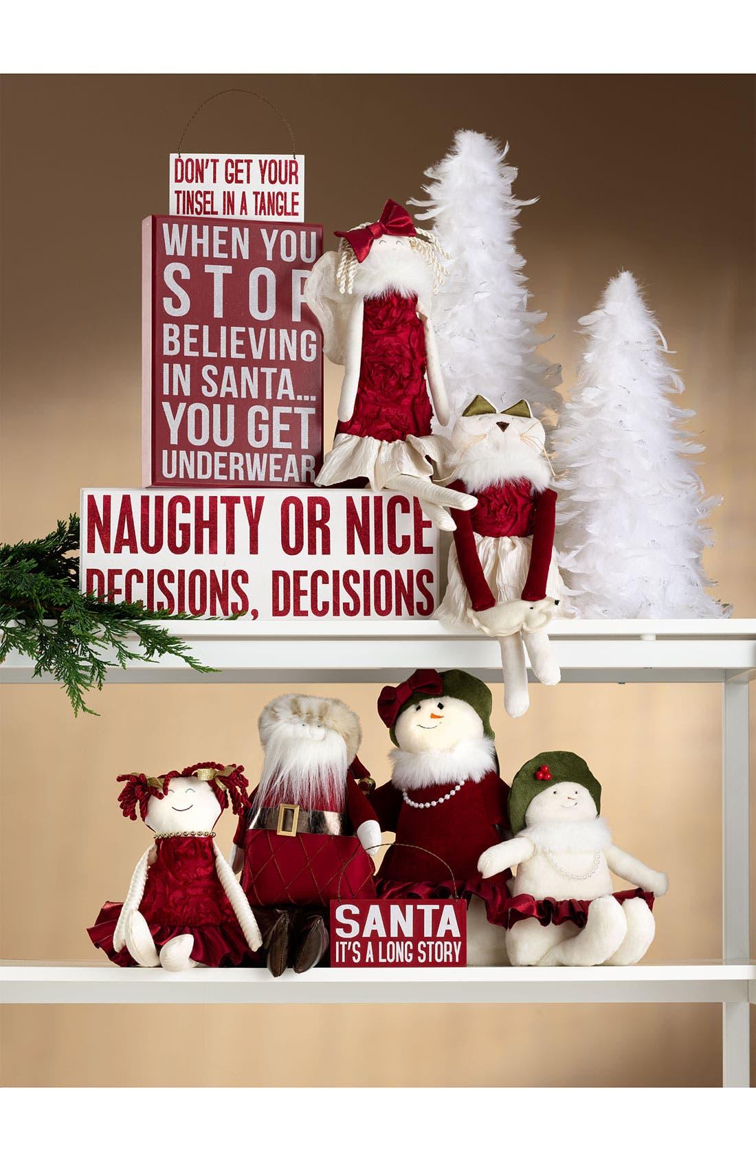 Alternate Image 2  - Woof & Poof Christmas Cat Door Hanger