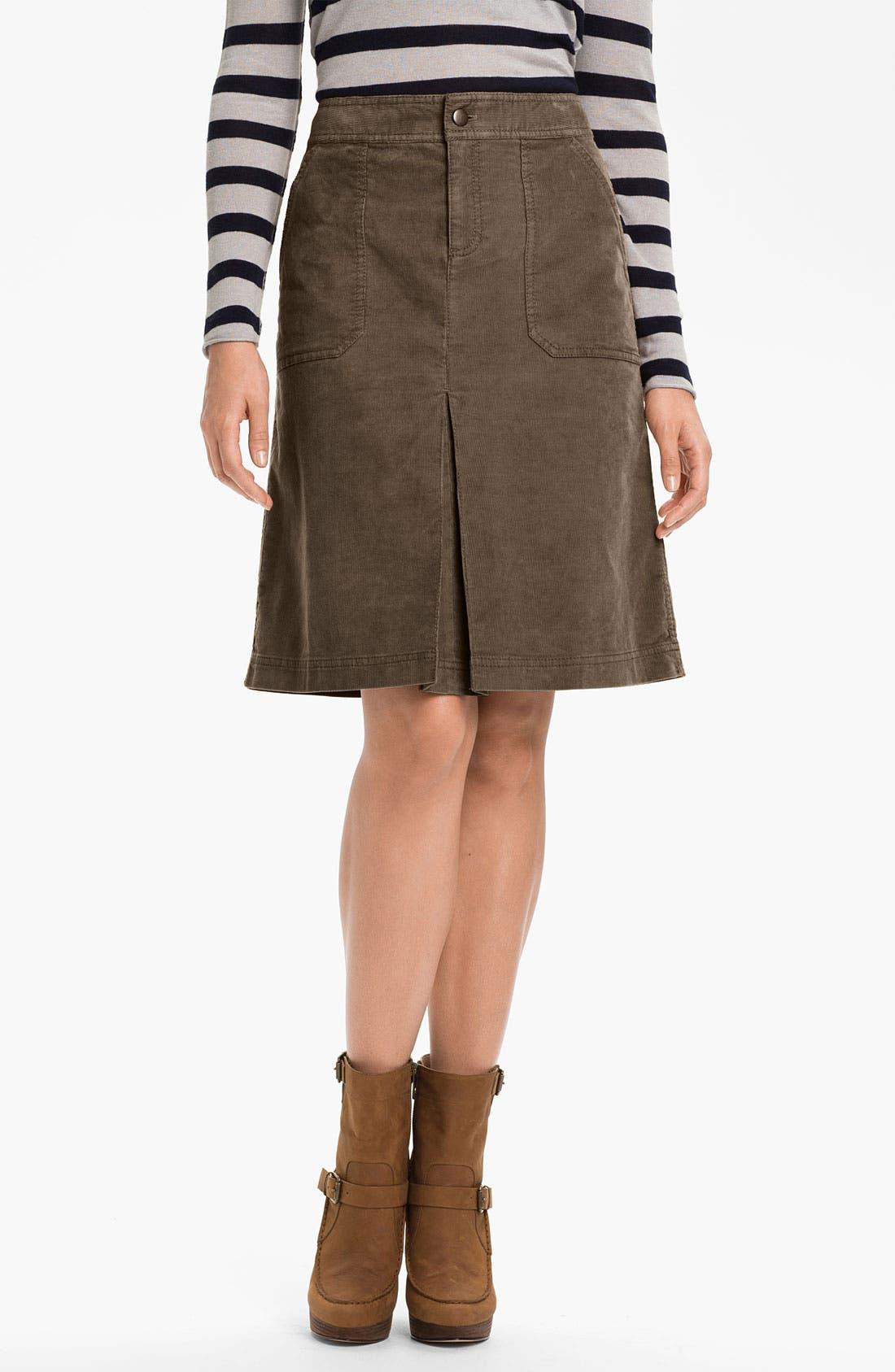 Alternate Image 1 Selected - Caslon® Corduroy Skirt