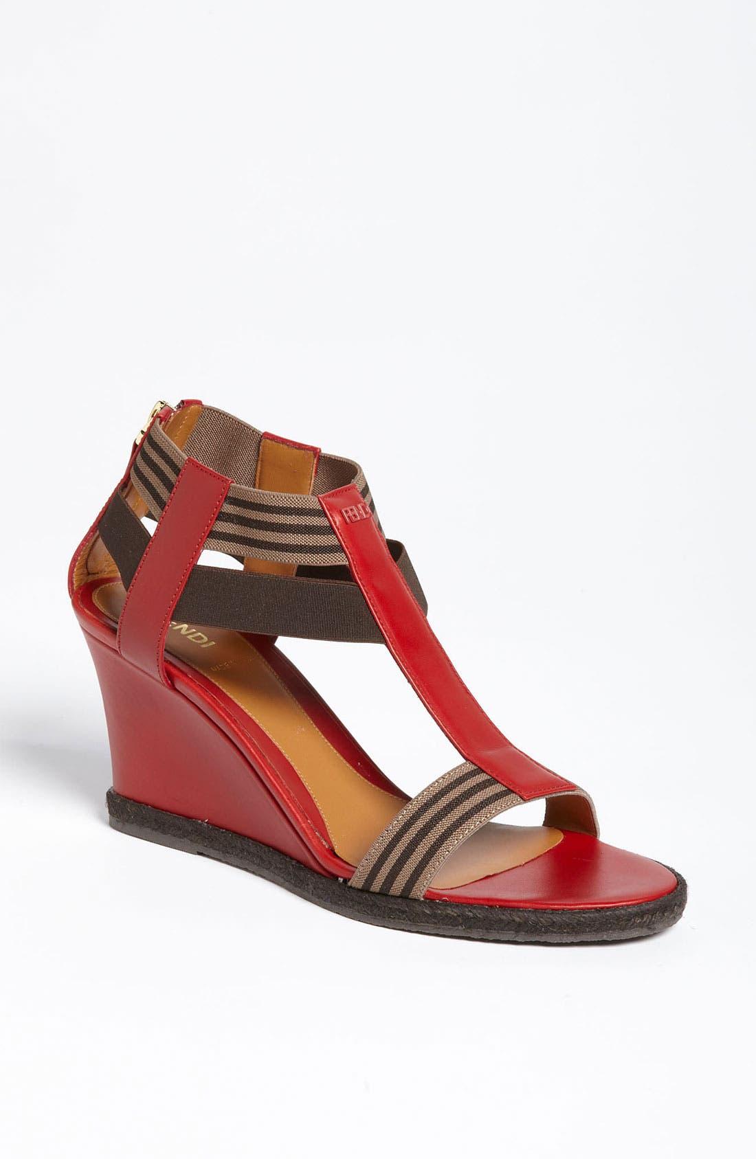 Alternate Image 1 Selected - Fendi 'Carioca' Wedge Sandal
